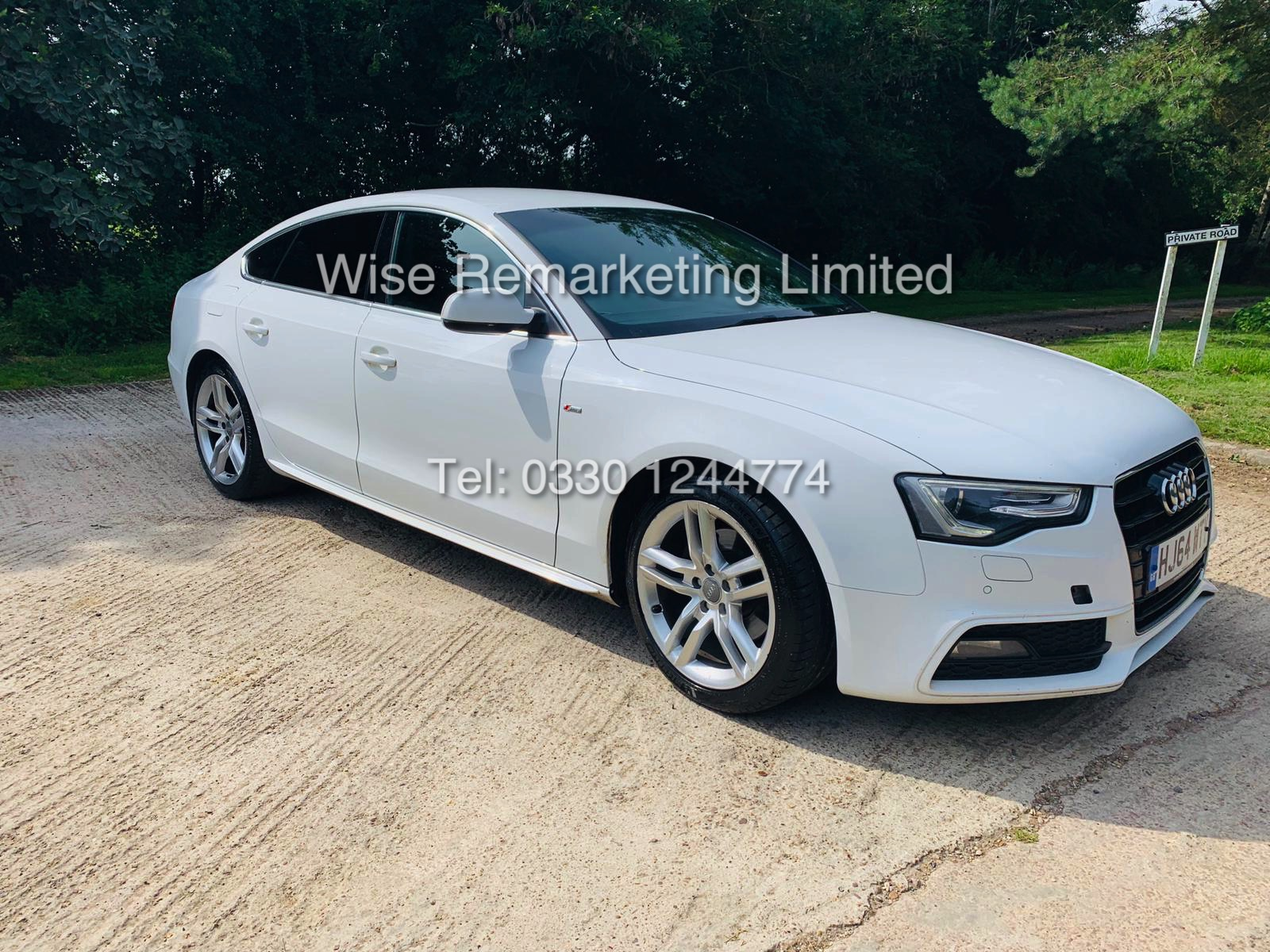 **RESERVE MET**AUDI A5 2.0 TDI ULTRA S LINE 5DR 2015 MODEL **WHITE** FULL HISTORY- 1 OWNER