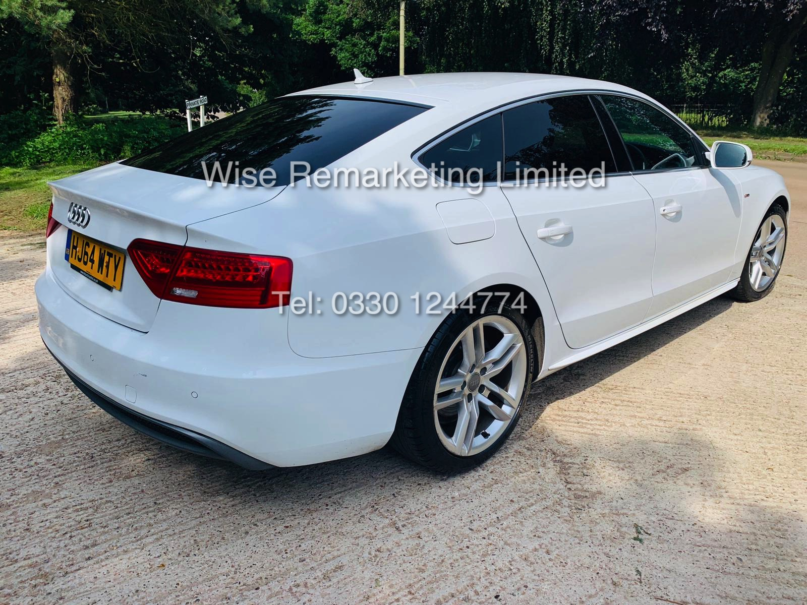 **RESERVE MET**AUDI A5 2.0 TDI ULTRA S LINE 5DR 2015 MODEL **WHITE** FULL HISTORY- 1 OWNER - Image 6 of 29