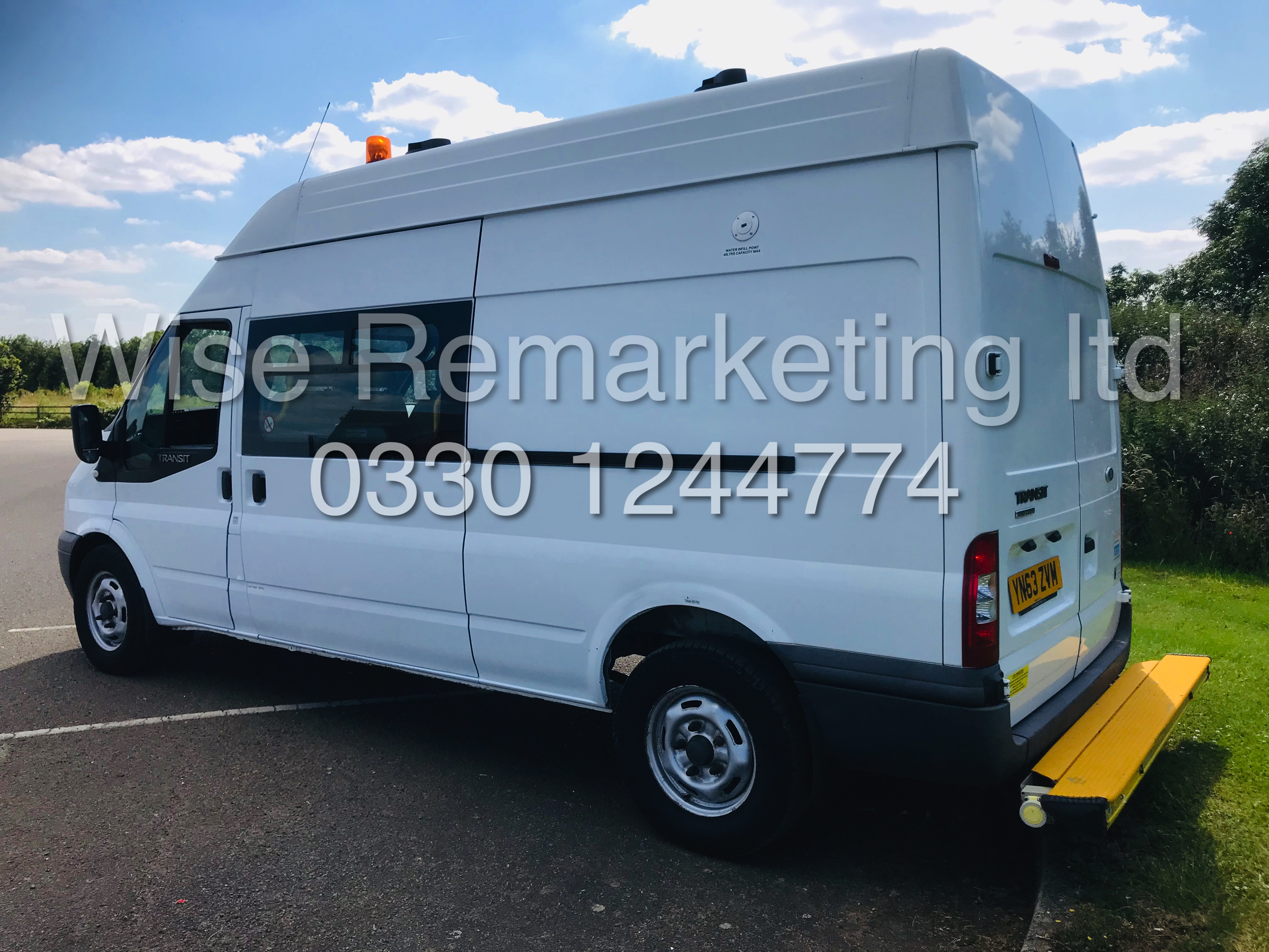 Lot 4A - FORD TRANSIT LWB *CLARKS CONVERSION -MESSING UNIT* (62 REG) '2.2 TDCI - 6 SPEED' (ONLY 14,000 MILES)
