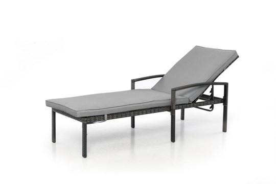 Lot 32 - Rattan Austin Sun Lounger (Grey) *BRAND NEW*