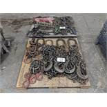 Pallets of Assorted Lifting Chains & Steel Braided Cables
