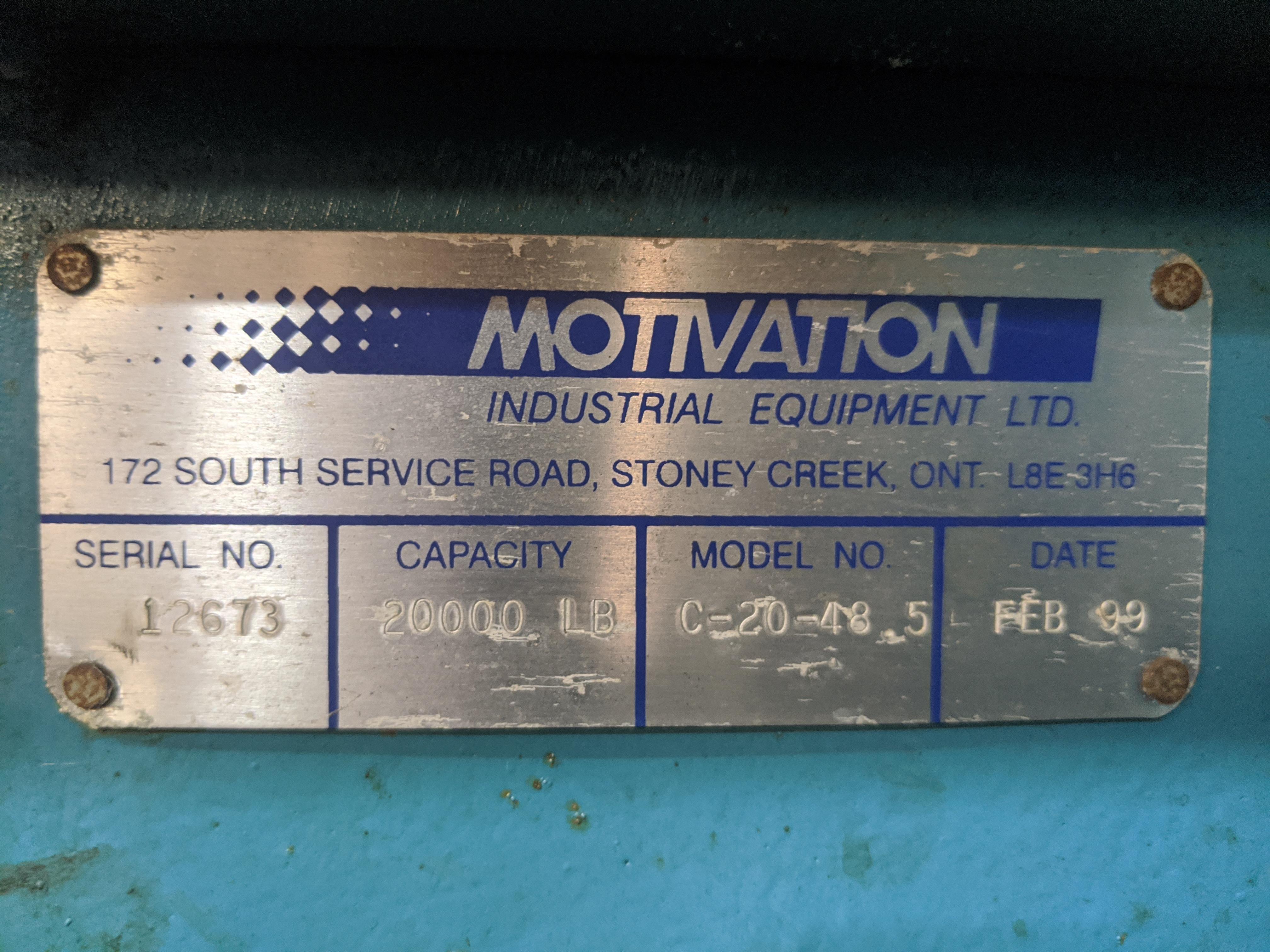 Lot 45 - 1999 Motivation Model C-20-48.5 Coil Hook