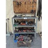 3-Tier Steel Shelving Unit with Contents of Assorted I-Bolts & Lifting Shackles