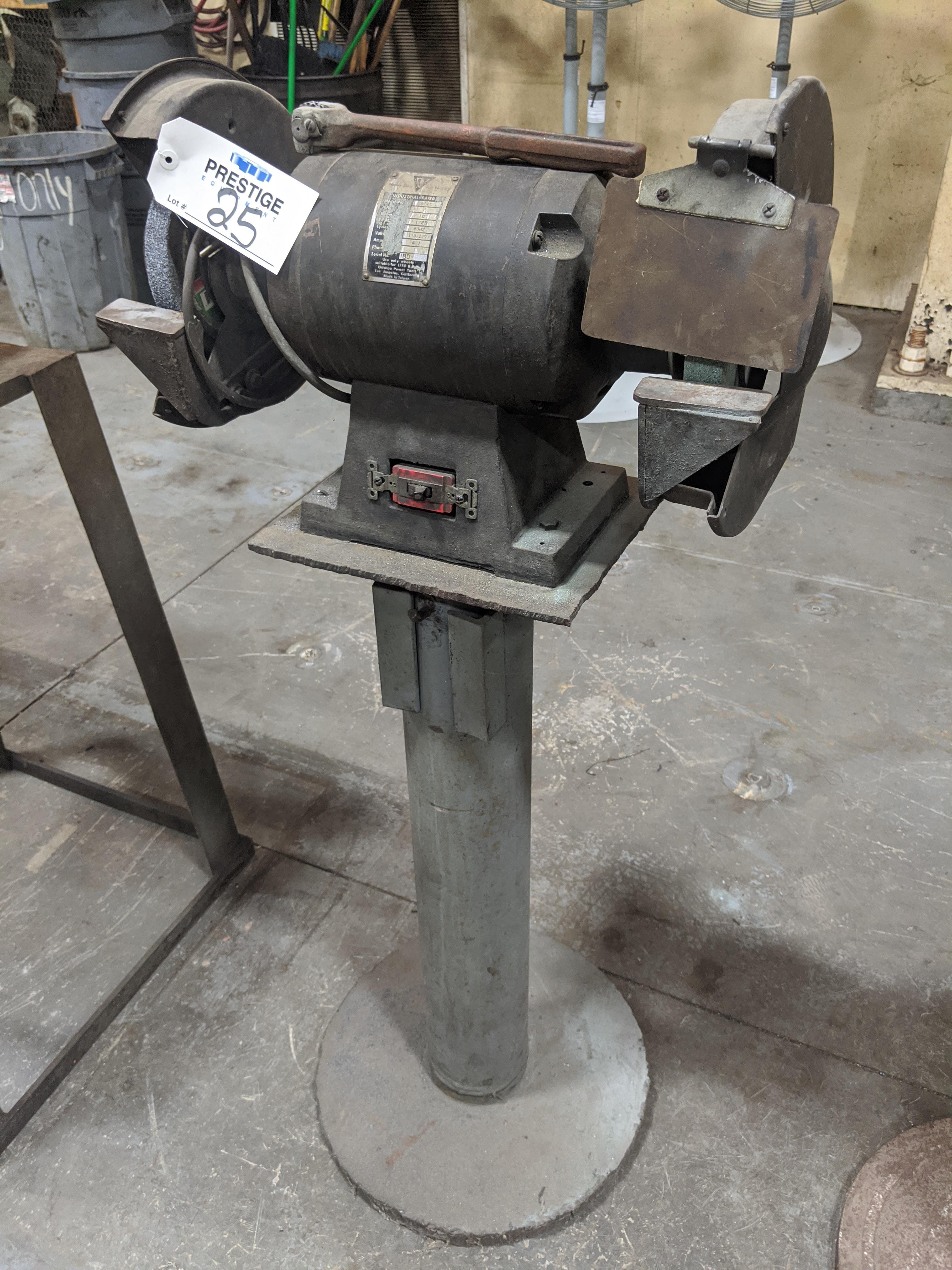 "Lot 25 - Chicago Power Tools Model 9020 8"" Double-End Pedestal Grinder"