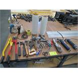 Lot Assorted Tools, Bolt Cutters, Steamers, Grease Guns, Pneumatic Tools, Stretch Wrap