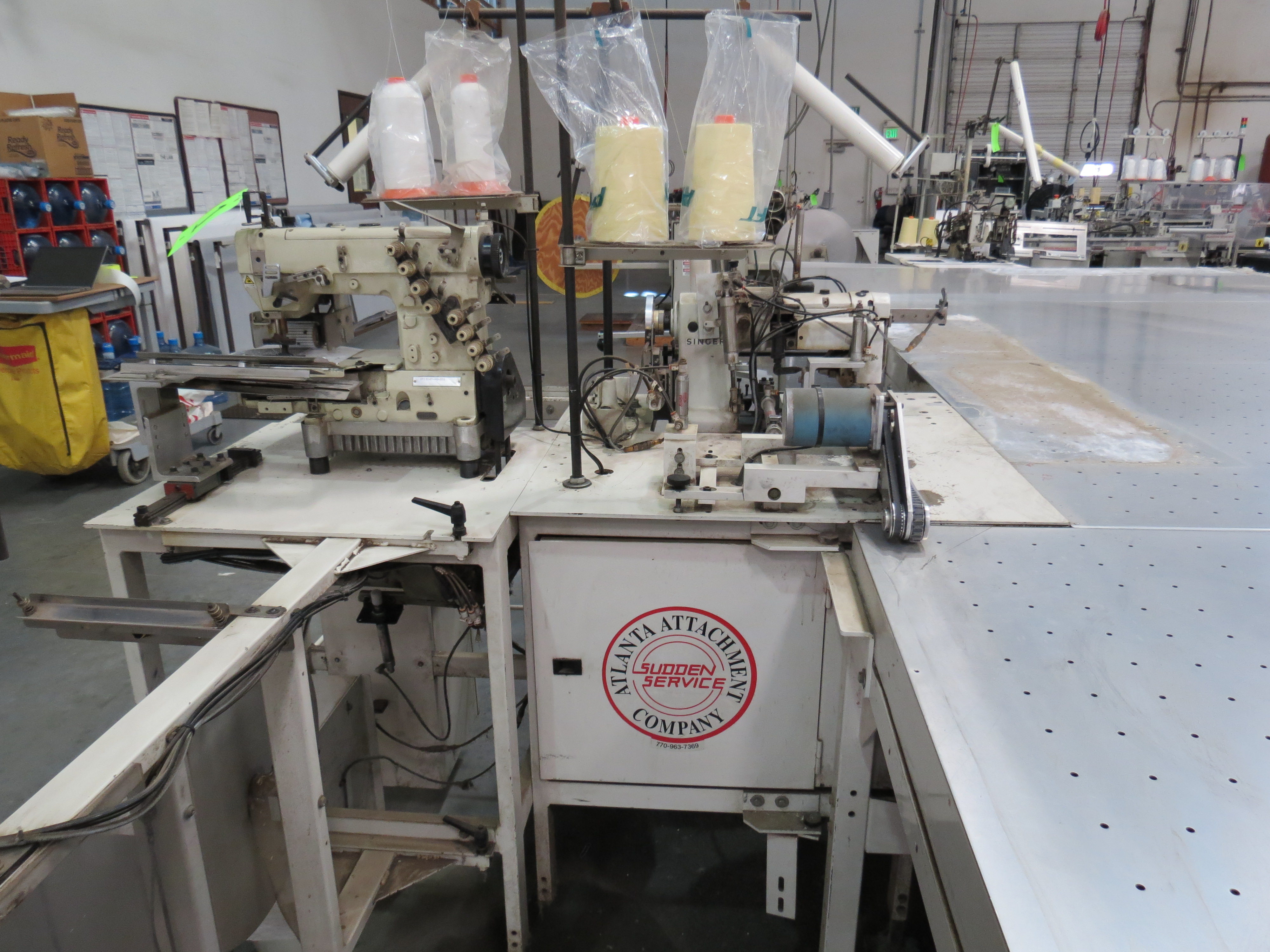 Atlanta Attachment Company VM1804P-NG-002 Gusset Sewing Machine with Flotation Table 8' x 13' - Image 7 of 8