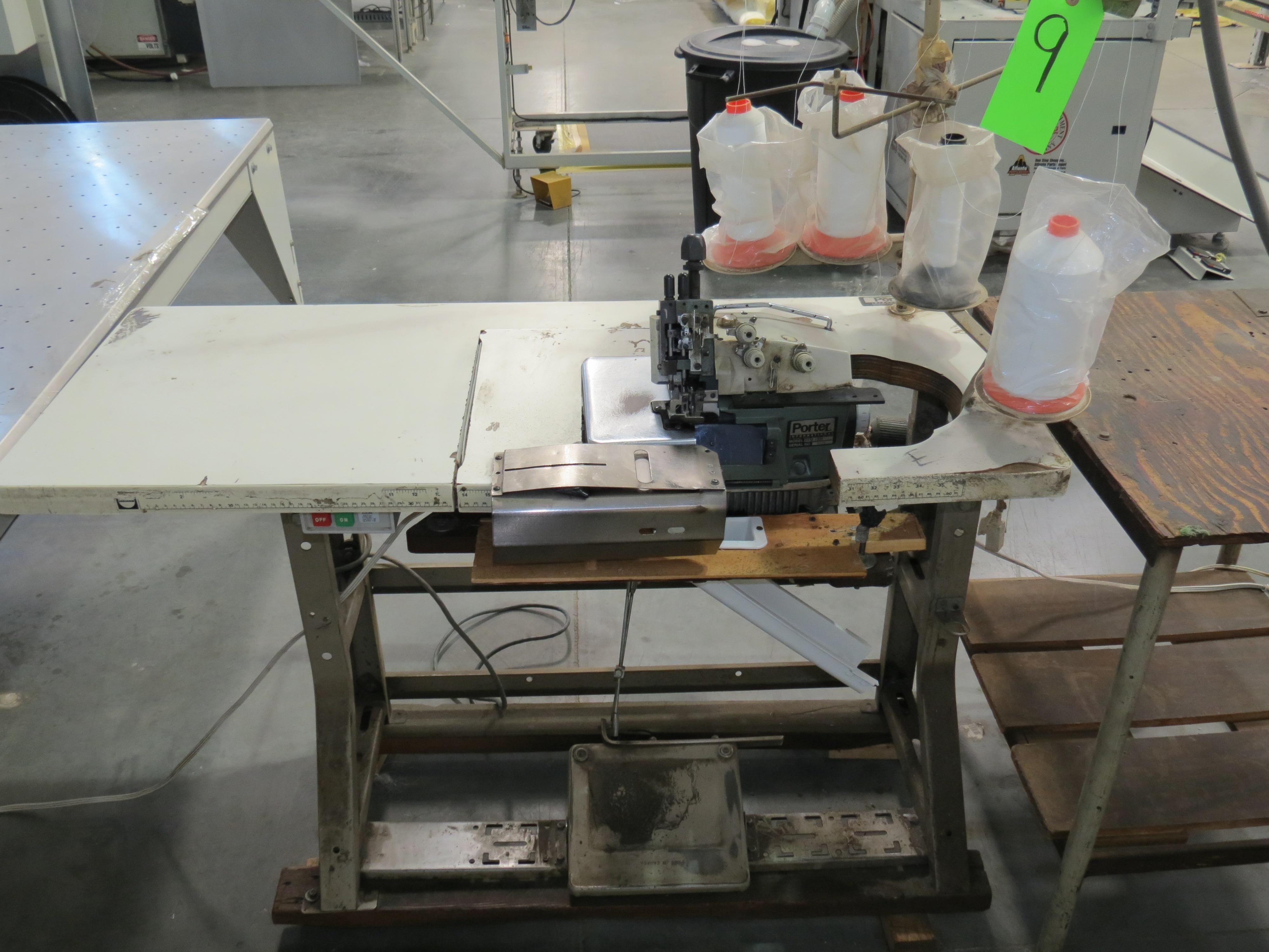 "Porter International PFM-1000 Flange Sewing Machine, with Floatation Table 95"" X 47"" 220V, SN:9434 - Image 2 of 3"