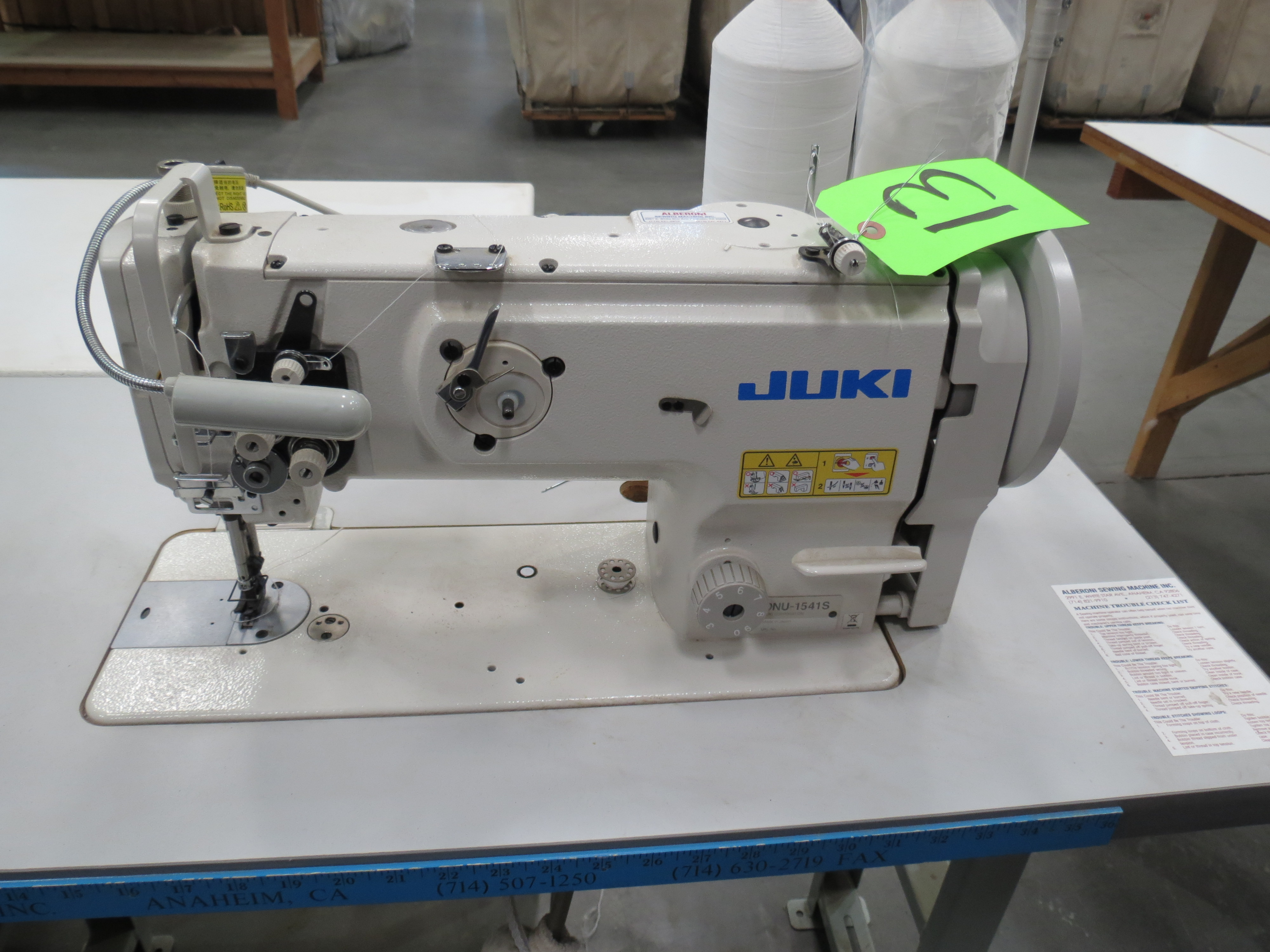 Juki DNU-1541SSingle Needle Sewing Machine, 110V, SN:3D8KF01172 with Table - Image 3 of 3