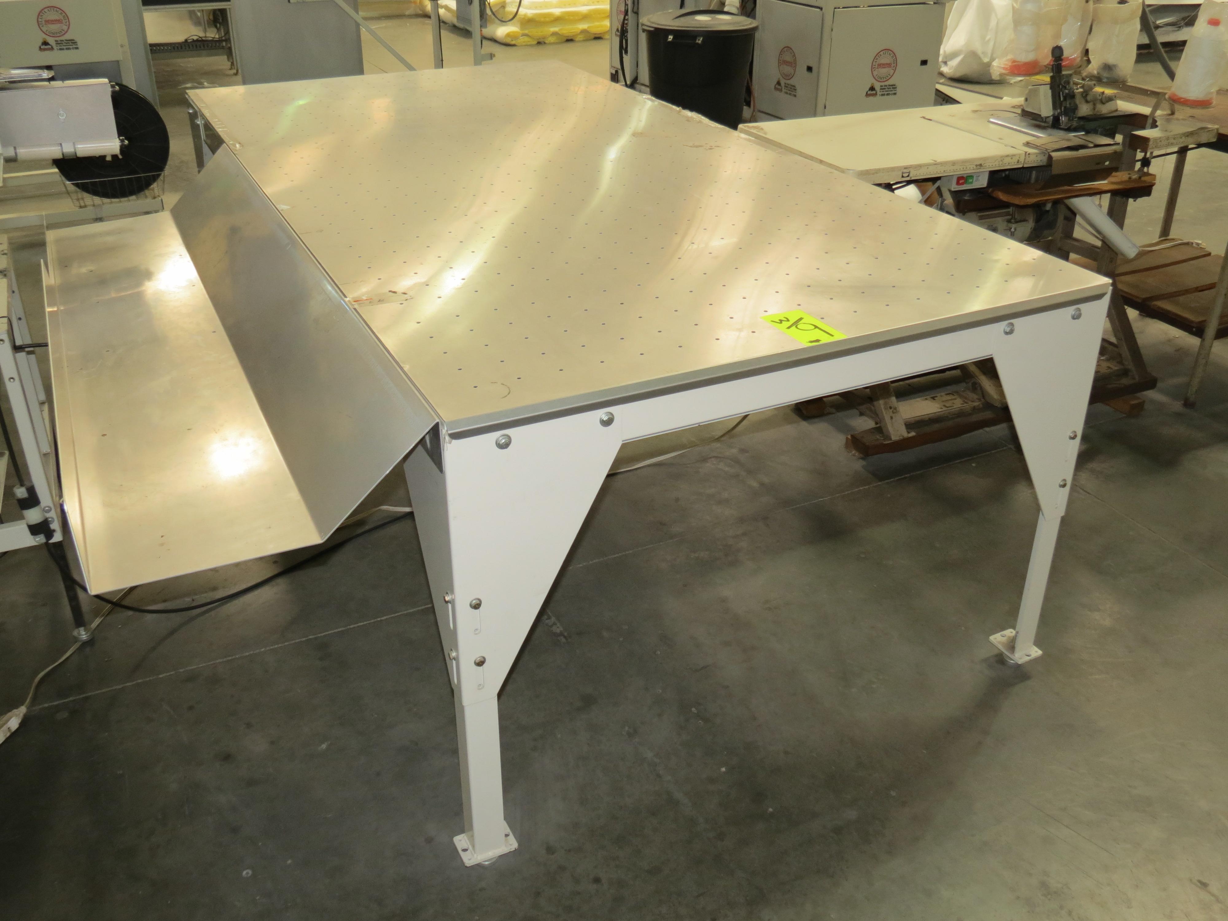 "Porter International PFM-1000 Flange Sewing Machine, with Floatation Table 95"" X 47"" 220V, SN:9434 - Image 3 of 3"