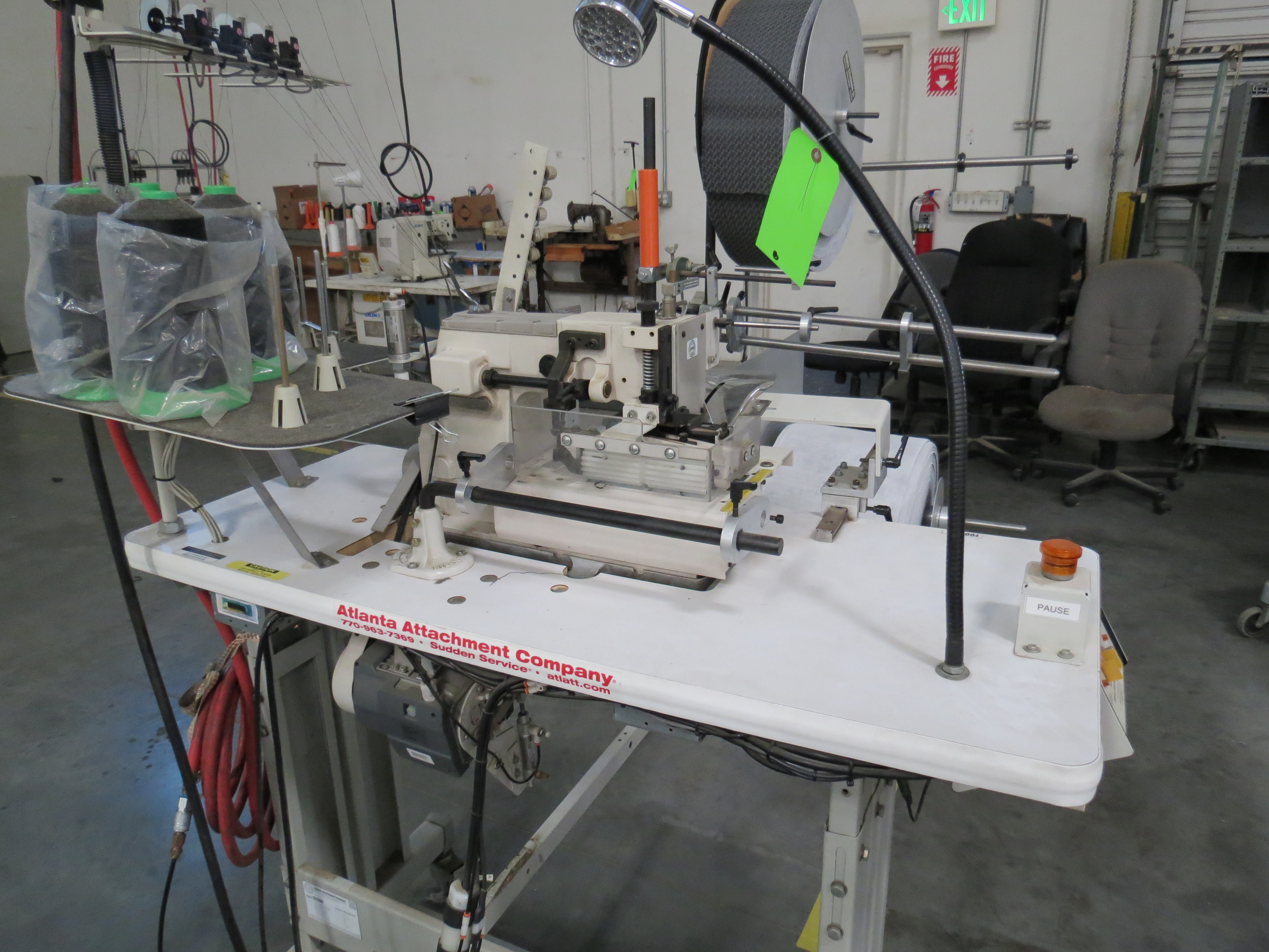 Atlanta Attachment Company 1312Border Trimmer Sewing Machine with Reel & Feeder, 220V, SN: - Image 3 of 8