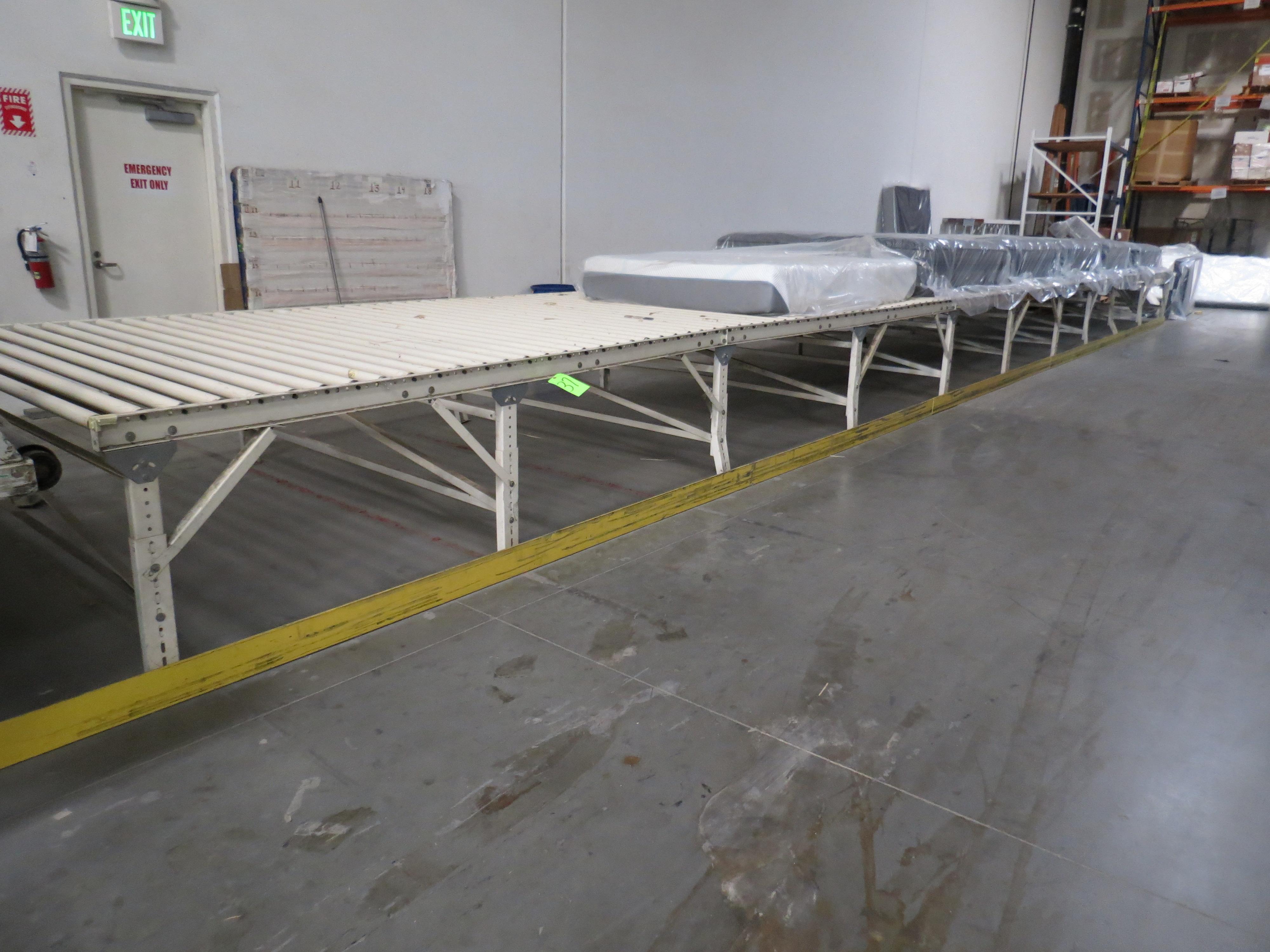 SYD-REN Conveyor Manual Feed Approximate Feet 7' X 50'