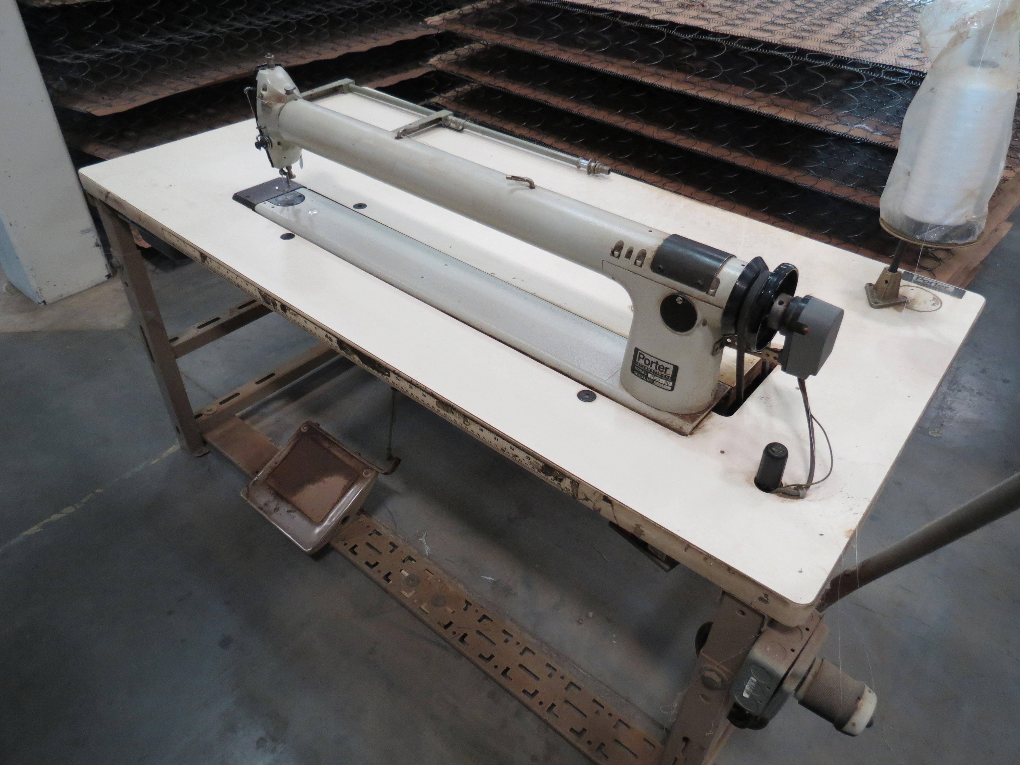 Porter International POQ-30Long-arm Sewing Machine, 110V, SN:S2537