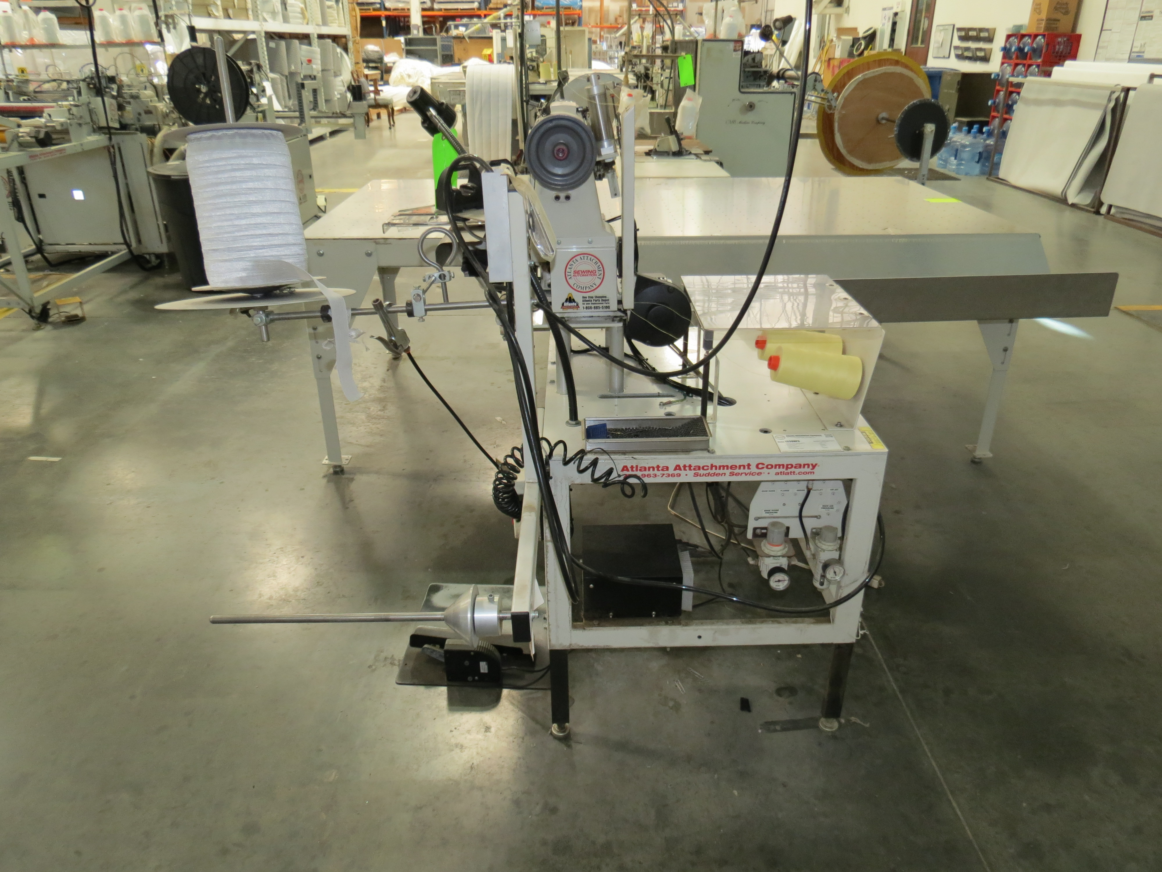 Atlanta Attachment Company 1339HFSHalf-Cap Sewing Machine, SN:209226071617, 220V, AAC 300UX6, ( - Image 3 of 5