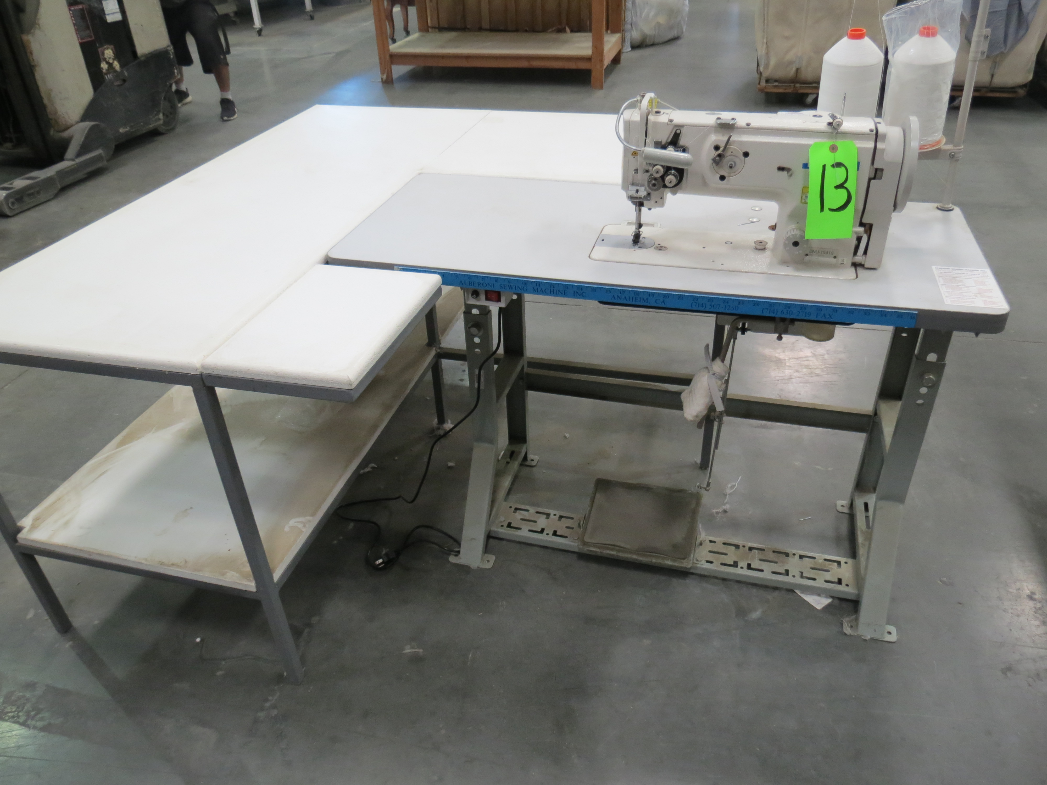 Juki DNU-1541SSingle Needle Sewing Machine, 110V, SN:3D8KF01172 with Table