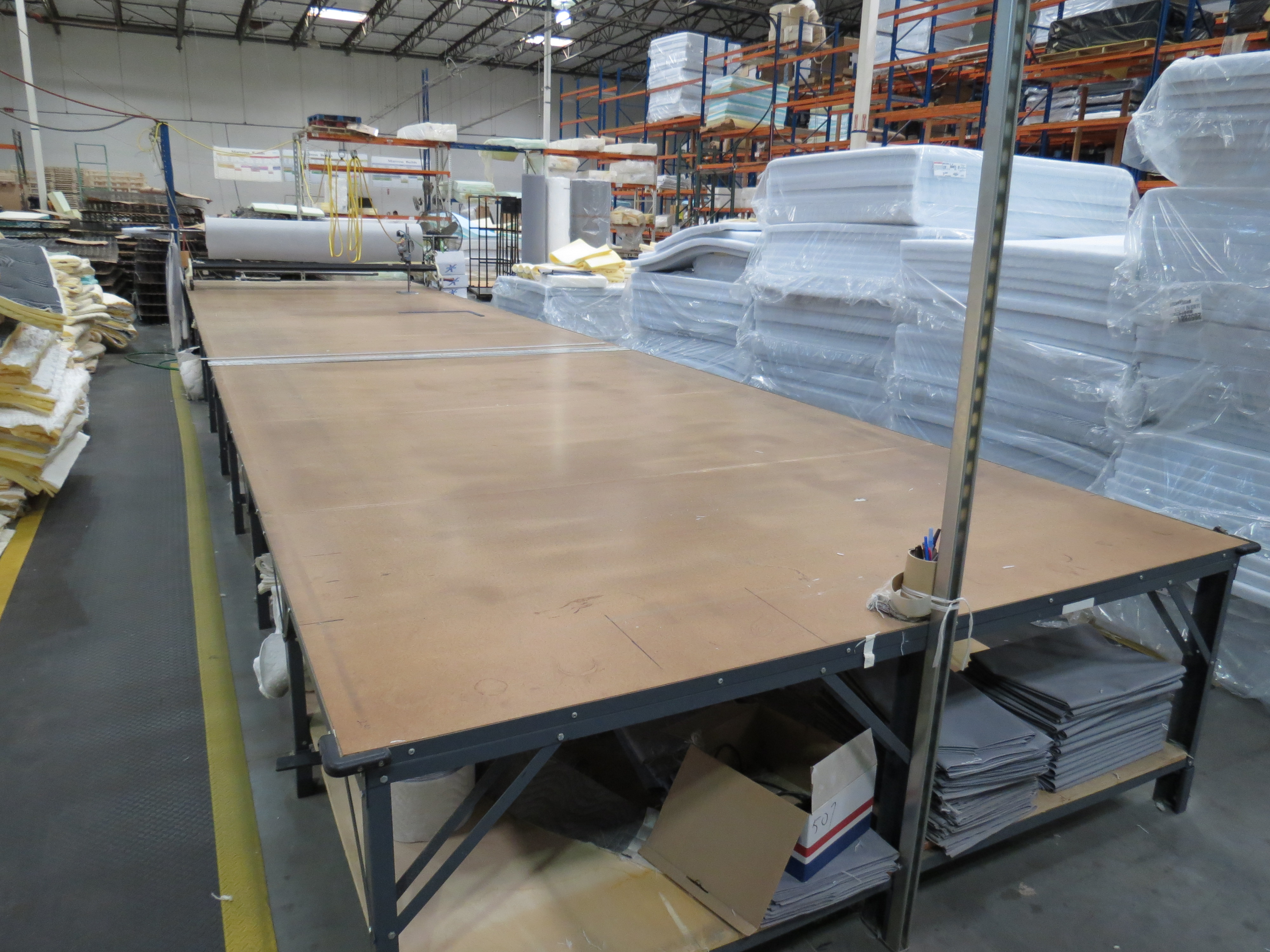 Cutting Table 8' x 30' With Table Top Fabric Roller / Spreader