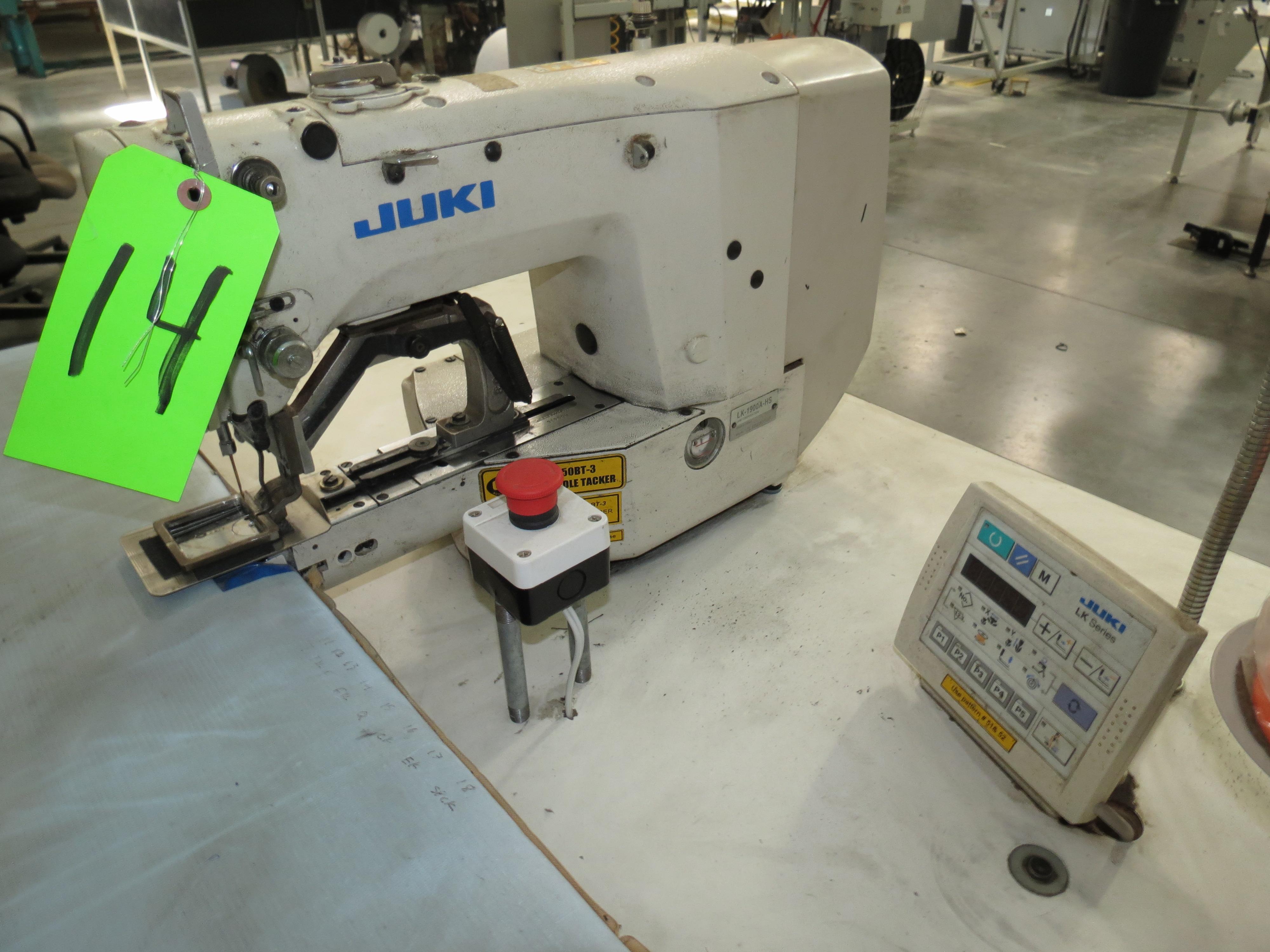 Juki LK-1900A-HSSingle Needle Sewing Machine, 110V, SN: 2L1DE00560 - Image 2 of 2