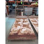 Metal Flatbed Push Cart 4' x 8'