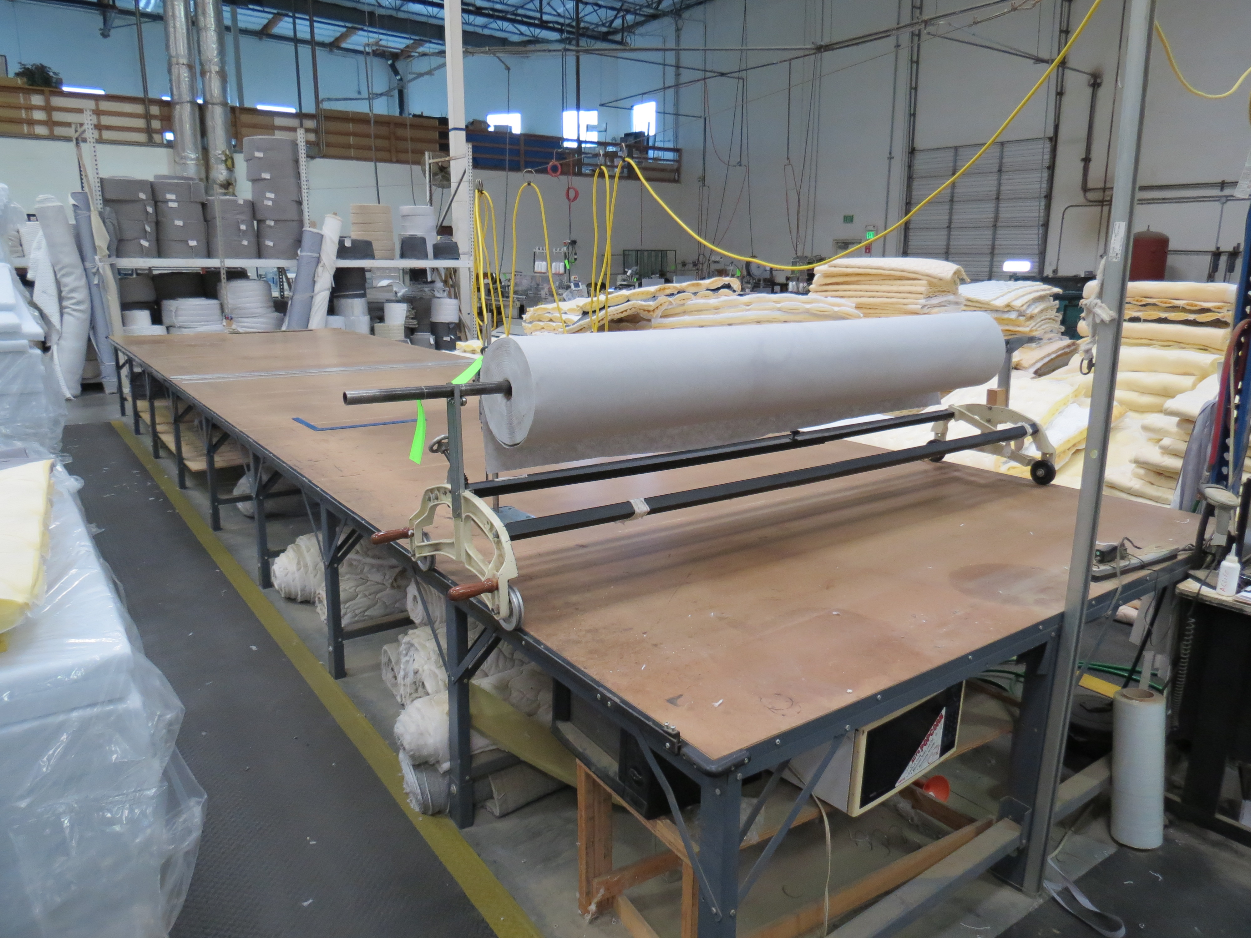 Cutting Table 8' x 30' With Table Top Fabric Roller / Spreader - Image 2 of 2