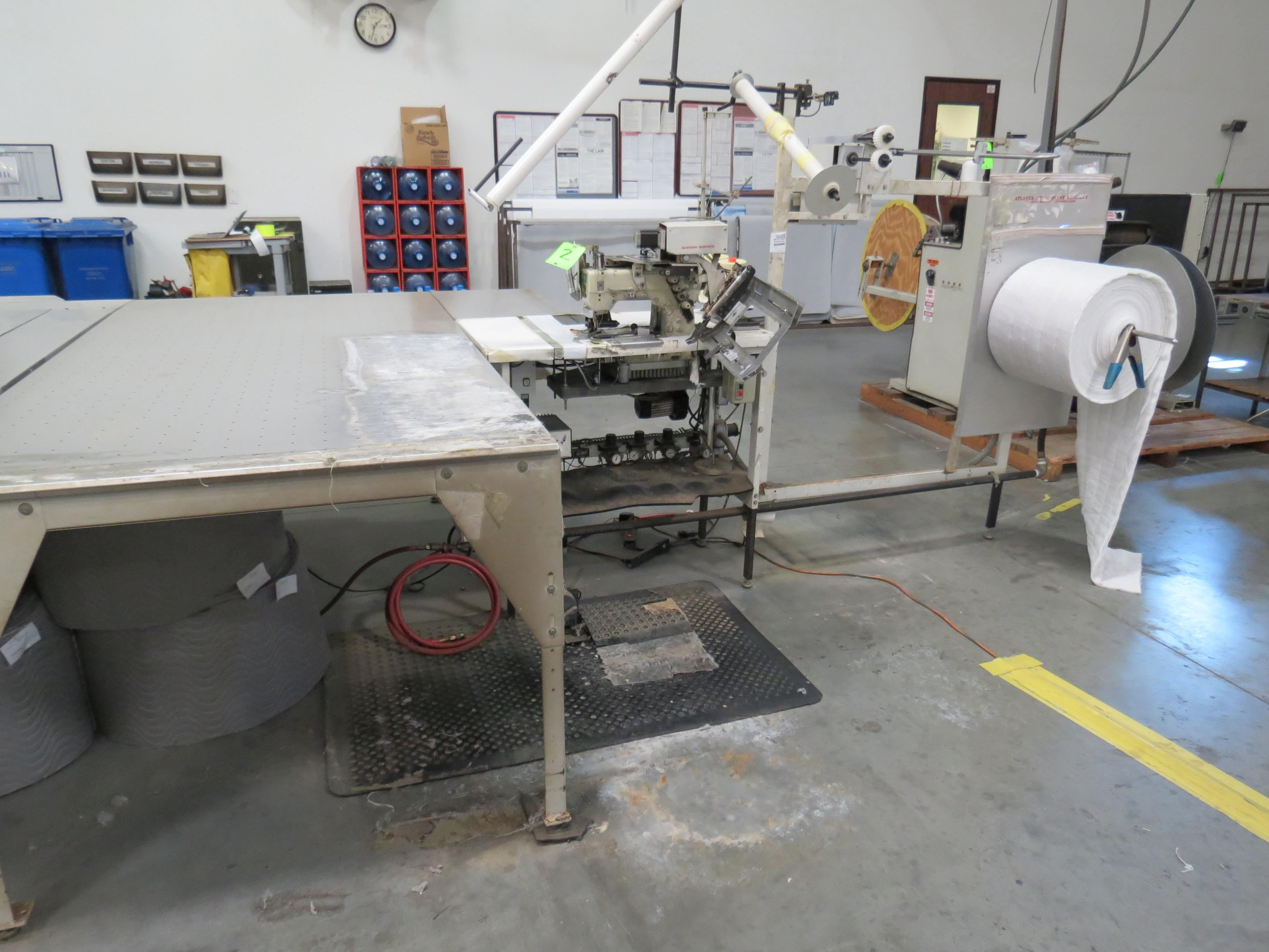 Atlanta Attachment Company VM1804P-NG-002 Ruffling Sewing Machine with Flotation Table 4' x 8' - Image 6 of 6