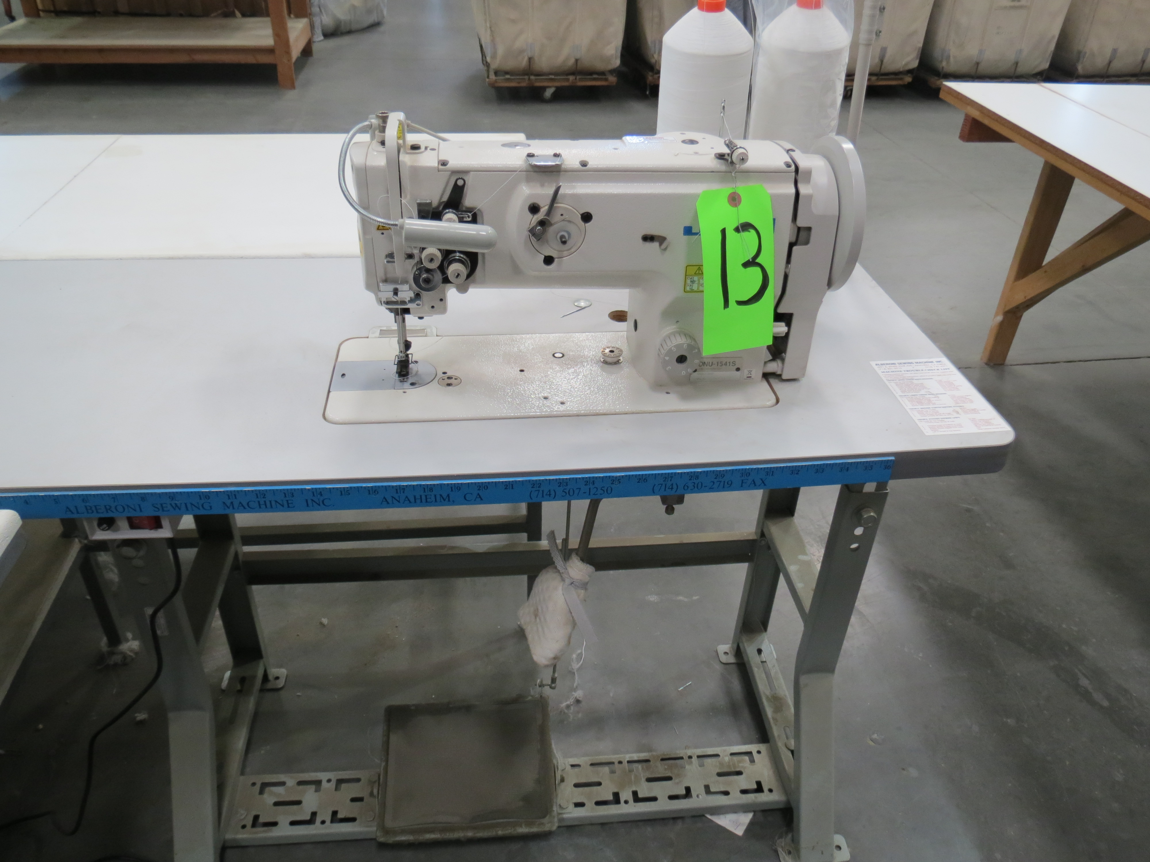 Juki DNU-1541SSingle Needle Sewing Machine, 110V, SN:3D8KF01172 with Table - Image 2 of 3
