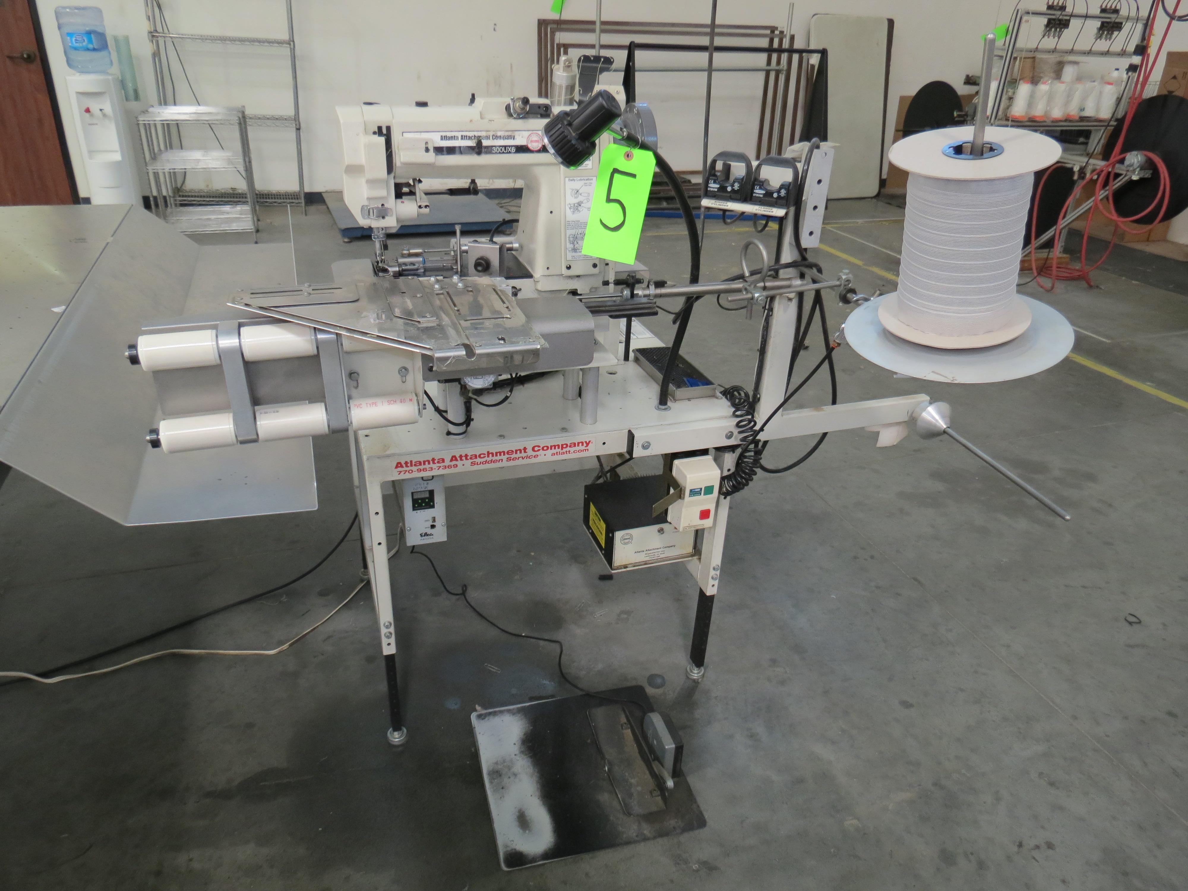 Atlanta Attachment Company 1339HFSHalf-Cap Sewing Machine, SN:209226071617, 220V, AAC 300UX6, (