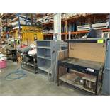 Lot 8-Assorted Metal Benches & Racks