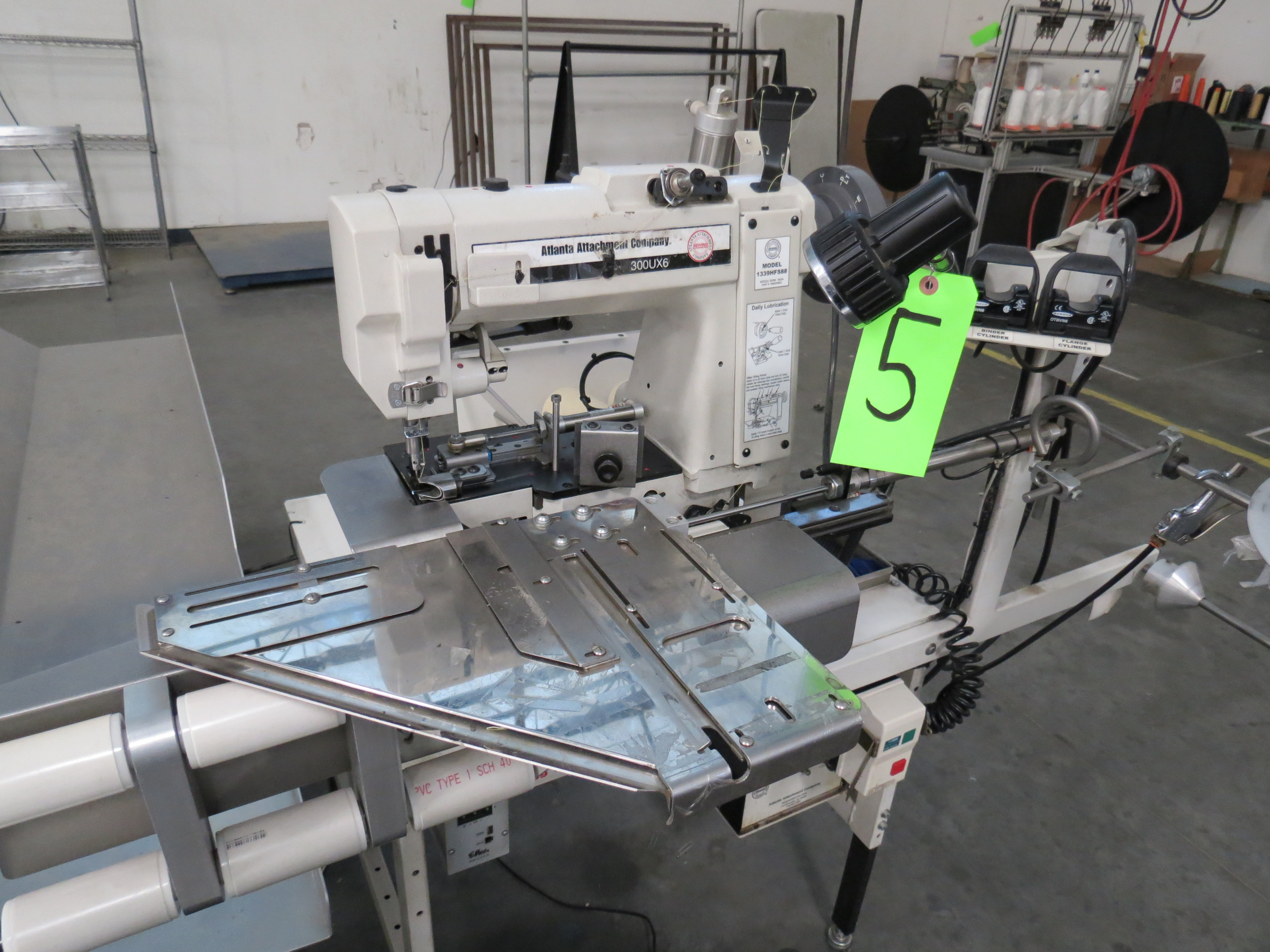 Atlanta Attachment Company 1339HFSHalf-Cap Sewing Machine, SN:209226071617, 220V, AAC 300UX6, ( - Image 2 of 5