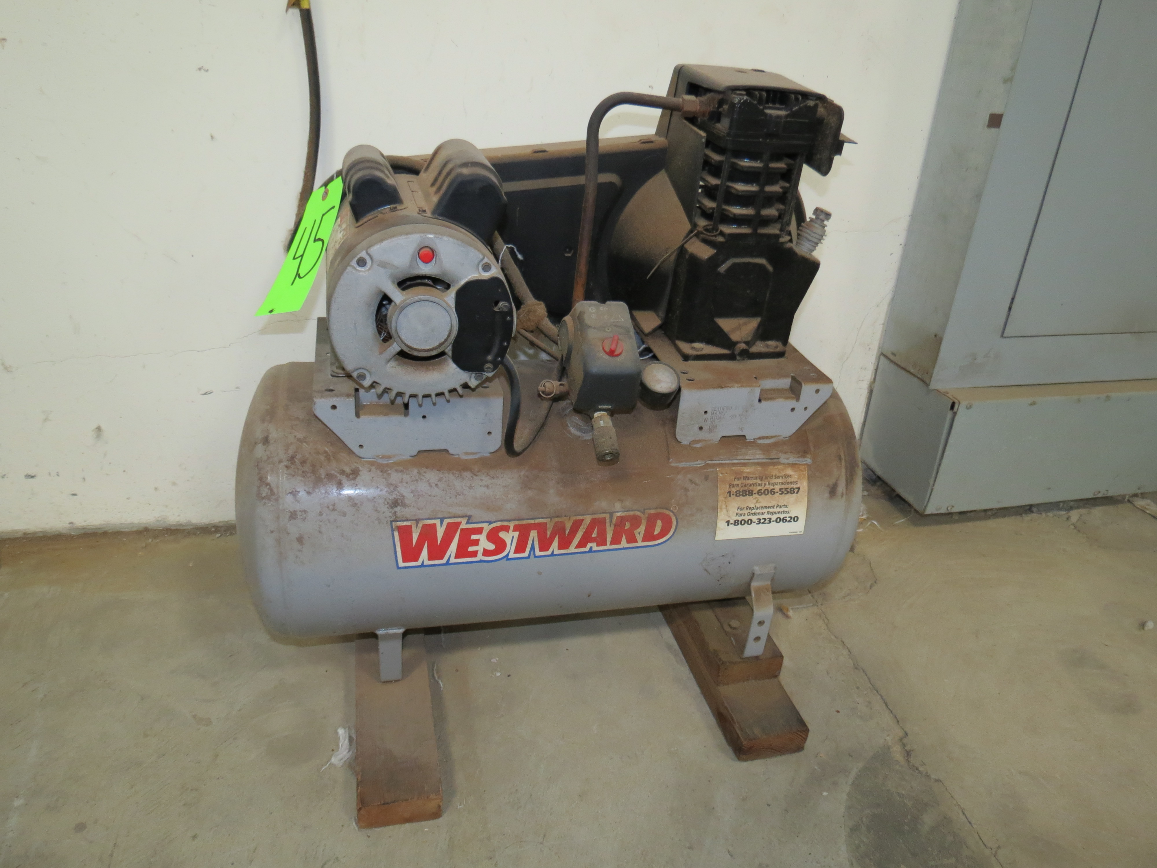 Westward Air Compressor Approximate 8 Gallon Air Tank
