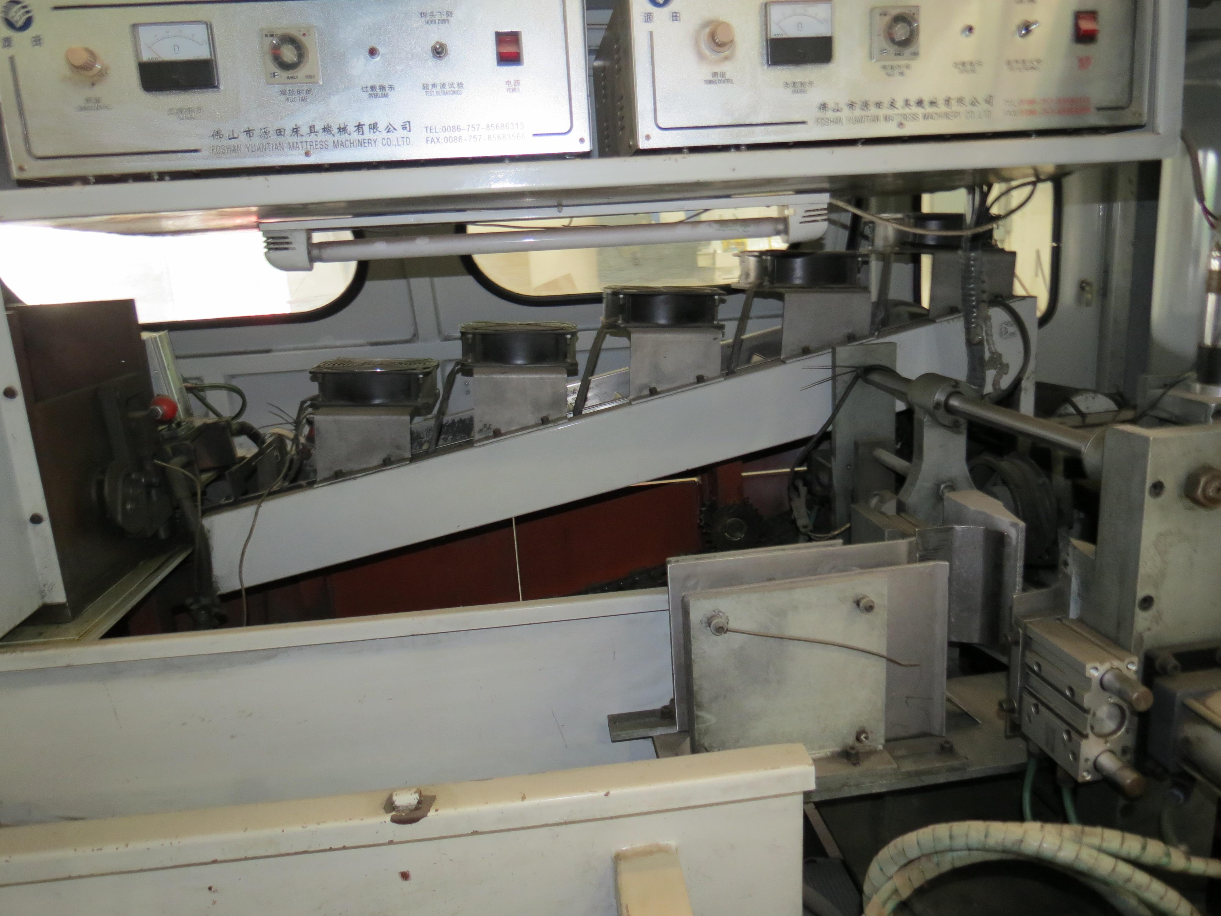 Foshan Yuatian Mattress Machine DZ-6AAutomatic Pocket Spring Machine, 220V, SN:0905005022 - Image 4 of 5