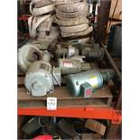 LOT - (5) ASSORTED ELECTRIC MOTORS, 1/2 HP TO 3/4 HP RANGE