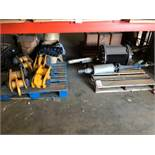 LOT - ASSORTED AIR COMPRESSOR AND HEAVY DUTY LINKAGE PARTS