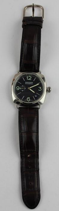 Lot 203A - A scarce gentleman's 18ct. white gold Panerai Radiomir 40MM OG automatic chronometer wrist watch,