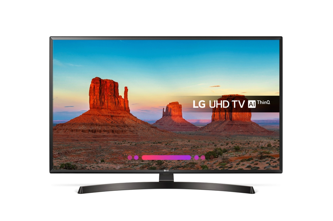 Lot 30052 - V Grade A LG 43 Inch ACTIVE HDR 4K ULTRA HD LED SMART TV WITH FREEVIEW HD & WEBOS 4.0 & WIFI - AI TV