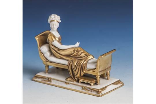 """Porzellan-Figur, """"Madame Recamier"""", Scheibe-Alsbach ..."""
