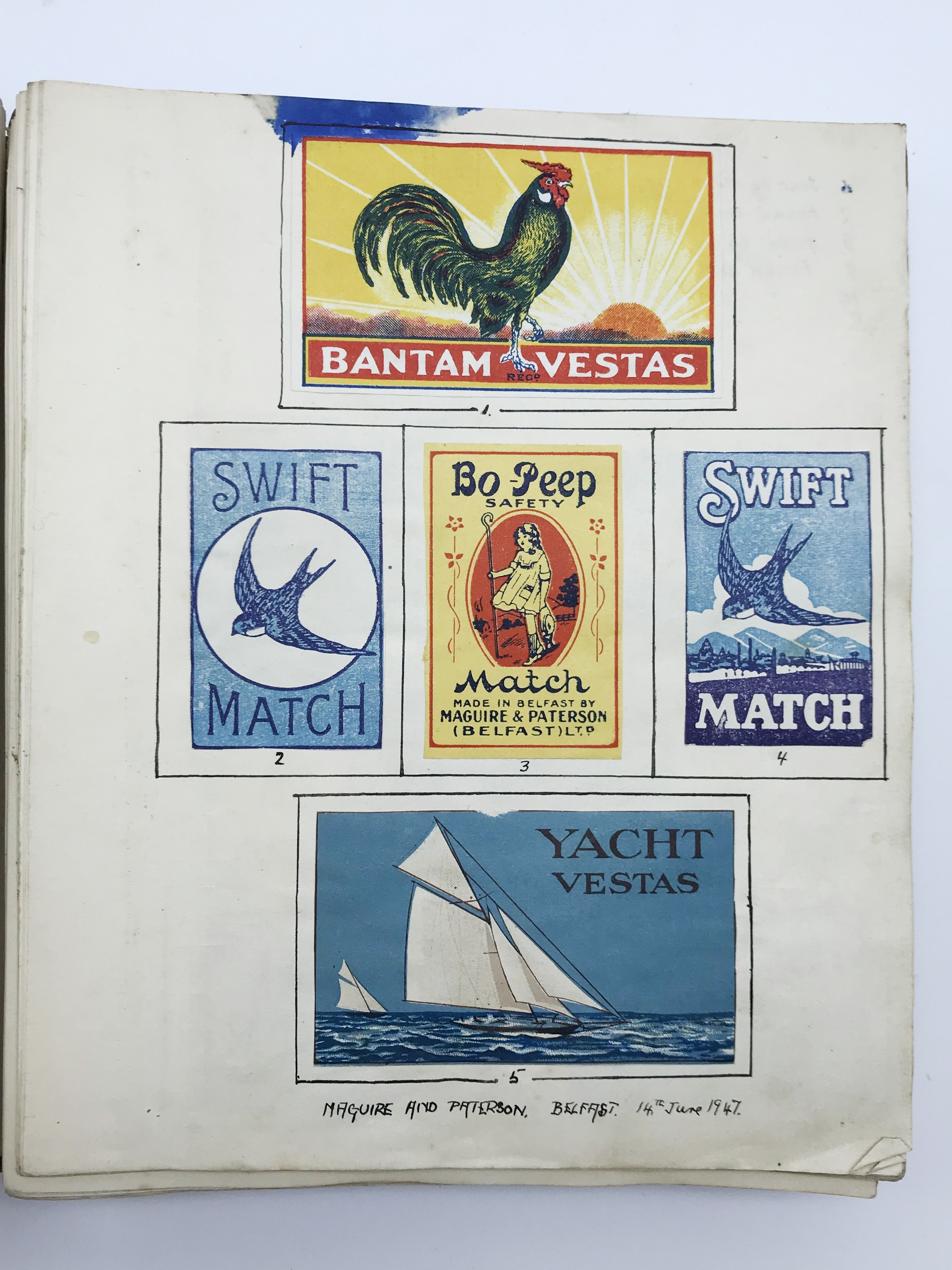 Lot 172 - OLD COLLECTION OF MATCHBOX LABELS