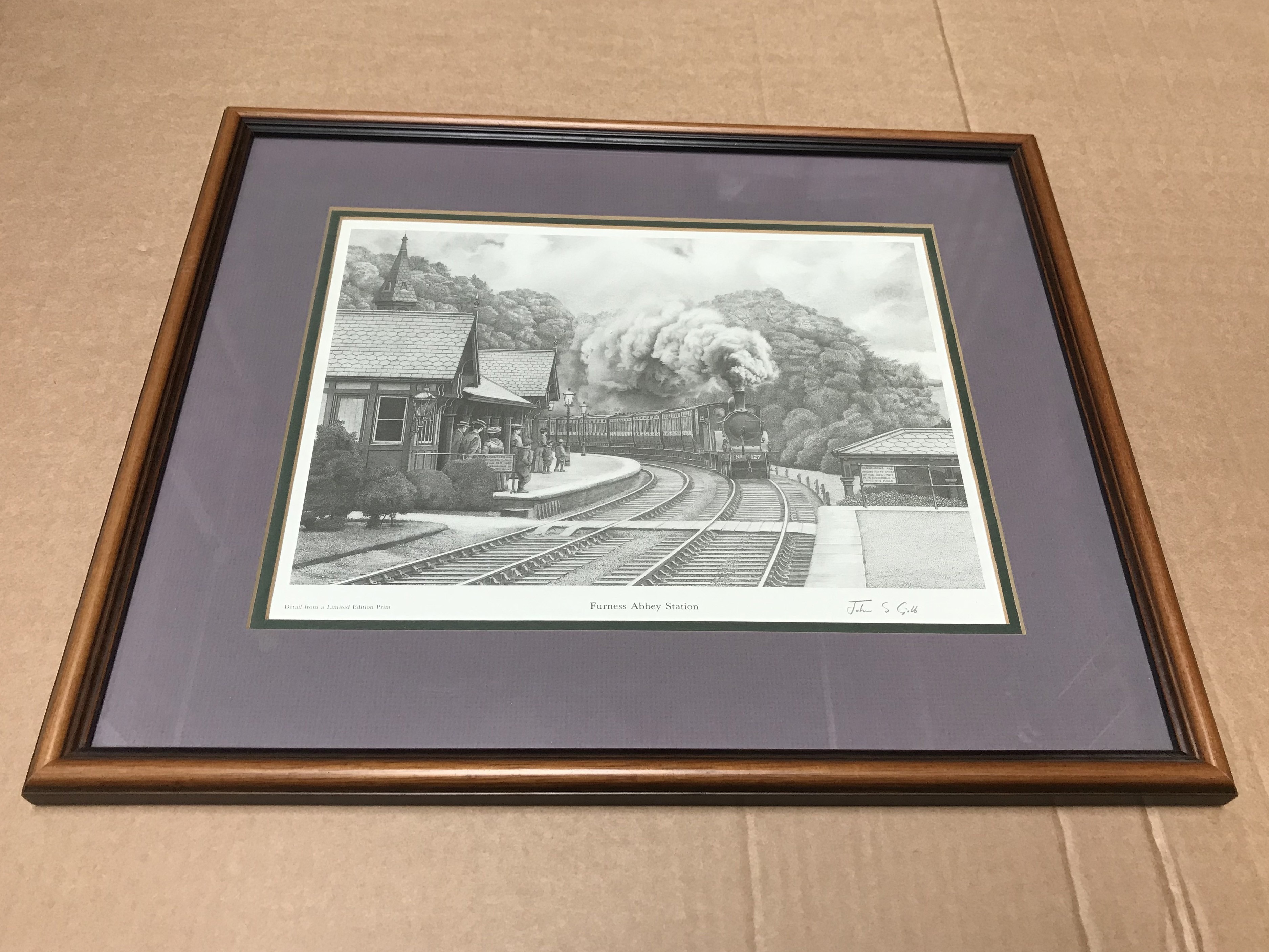 Lot 363 - SELECTION OF SIX RAILWAYS RELATED LIMITED EDITION PRINTS SIGNED BY JOHN S GIBB