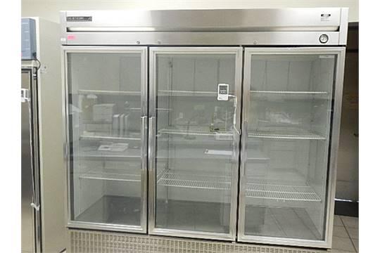 Lab Line Environeers Equatherm 3 Glass Door Refrigerator Stainless