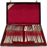 (24) Piece silver flatware set 'Haags Lofje'.