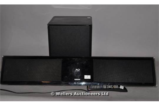 Samsung Ps Wbd8200 Blu Ray Sound Bar With Subwoofer Remote Sold As Seen No Delivery Serv
