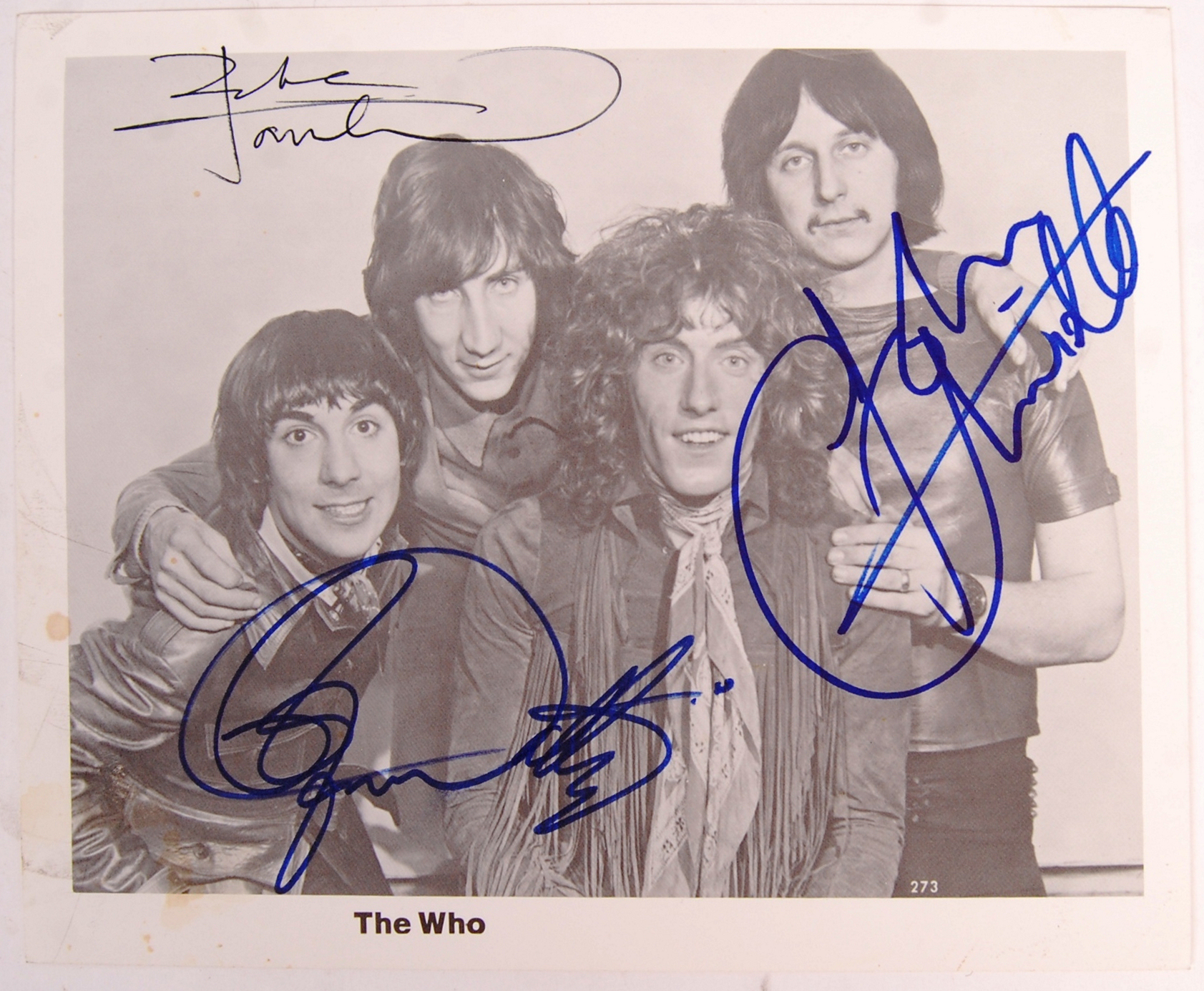 "RARE ' THE WHO ' VINTAGE SIGNED 8X10"" PROMOTIONAL"