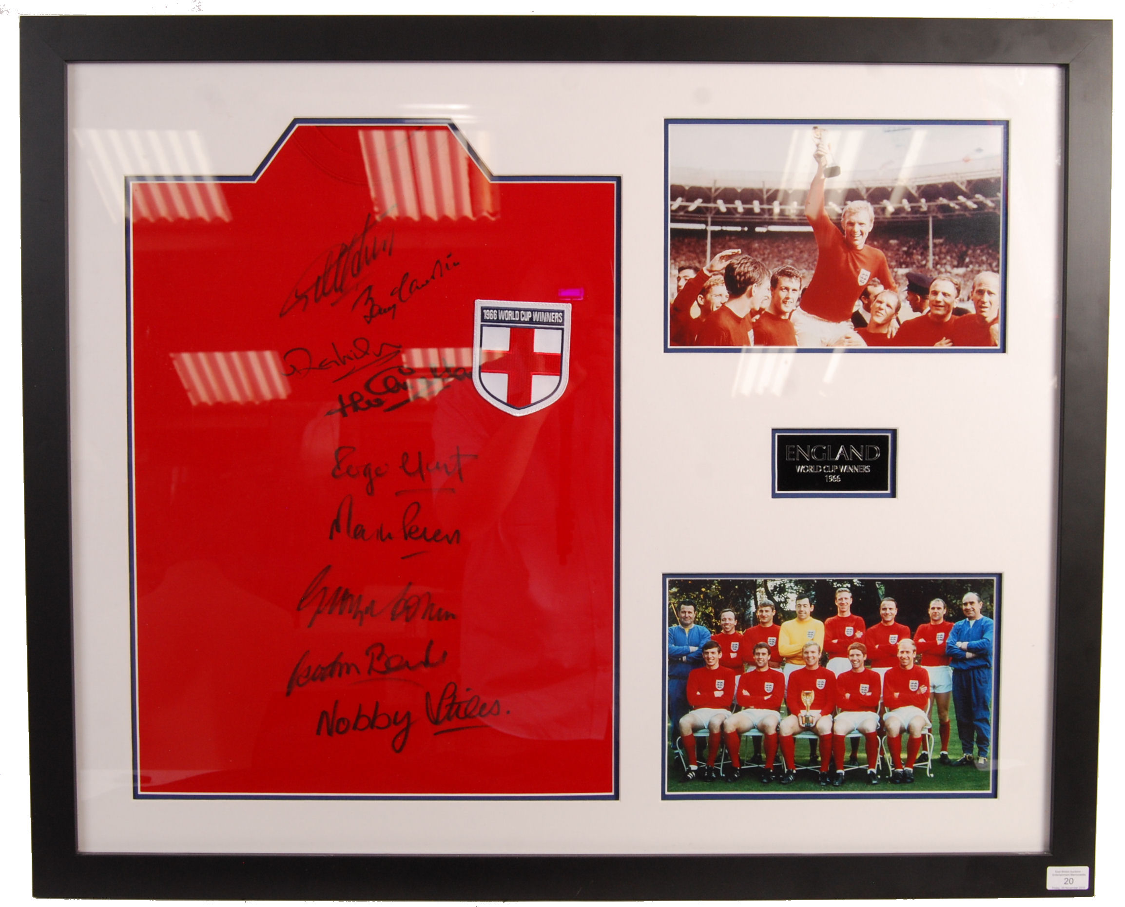 WORLD CUP 1966 ENGLAND SQUAD AUTOGRAPHED REPLICA S