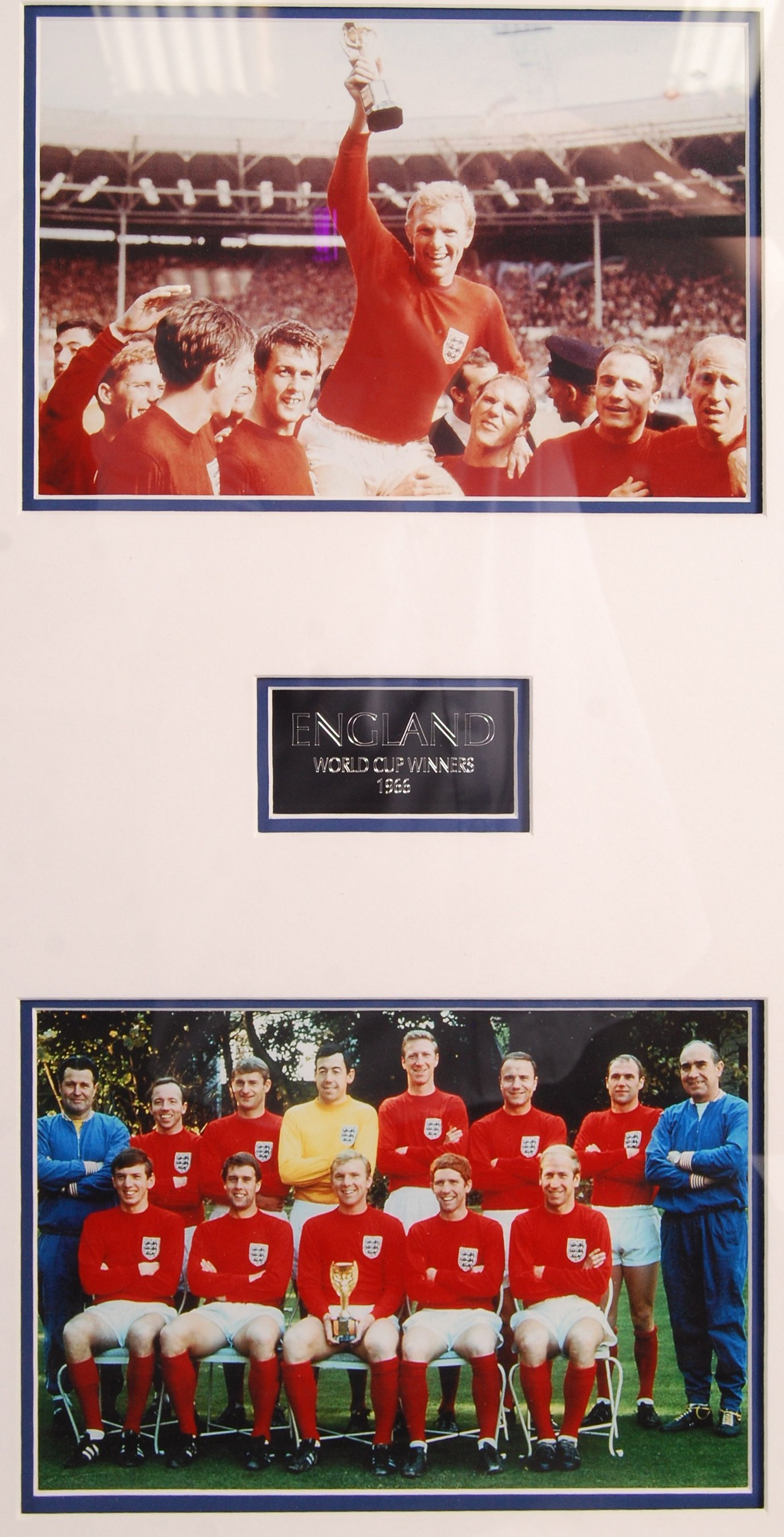 WORLD CUP 1966 ENGLAND SQUAD AUTOGRAPHED REPLICA S - Image 3 of 4