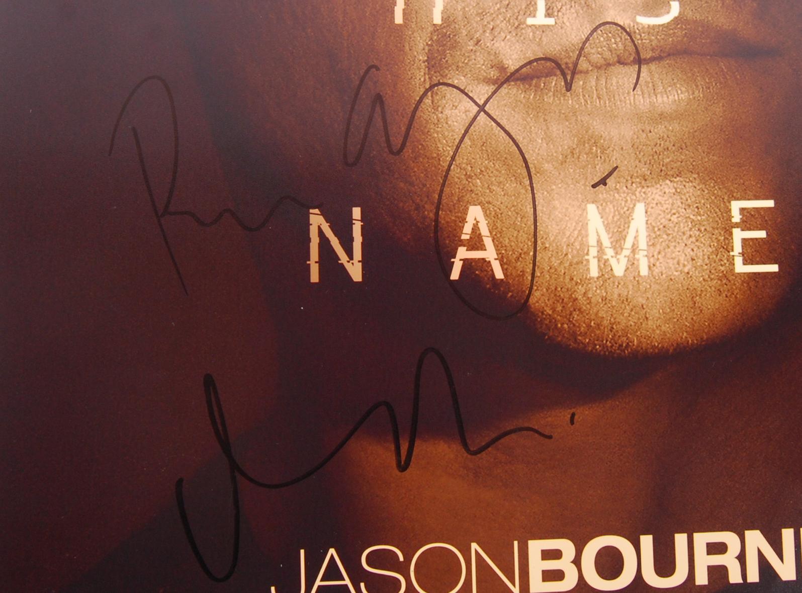 JASON BOURNE - MATT DAMON & DIRECTOR - SIGNED MOVI - Image 3 of 4