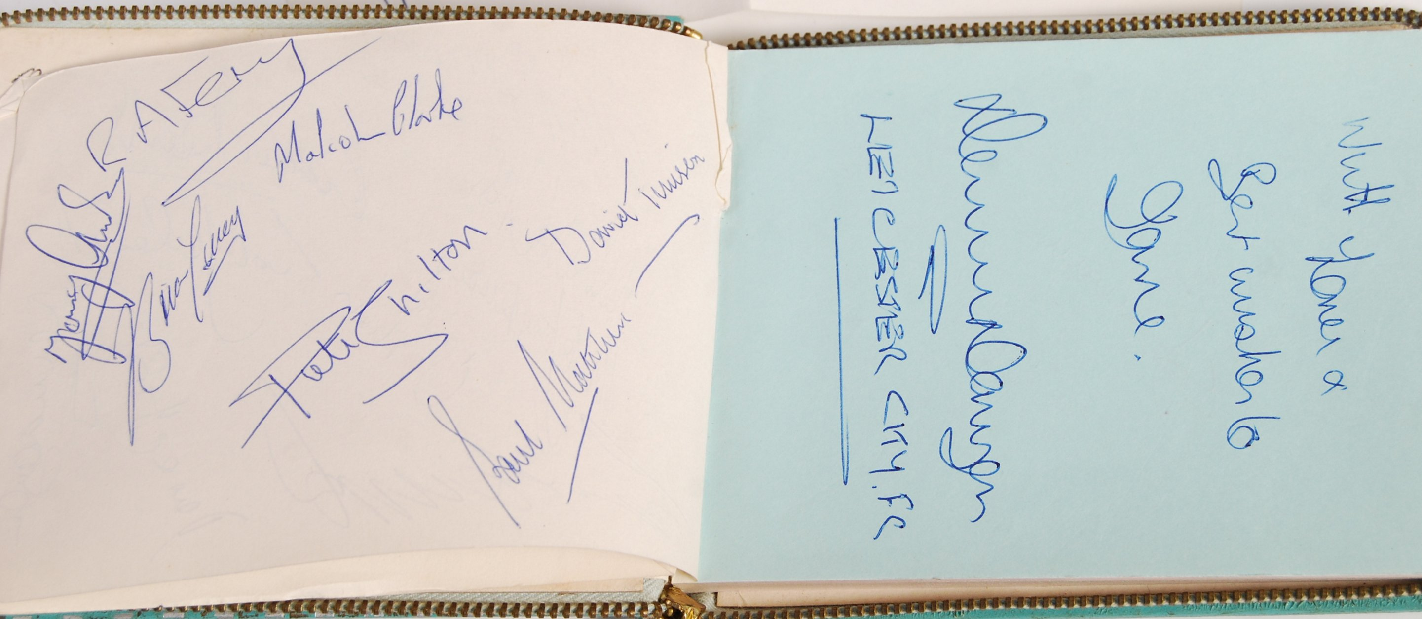 1960'S AUTOGRAPH BOOK - LEICESTER CITY & FOOTBALLE - Image 3 of 5