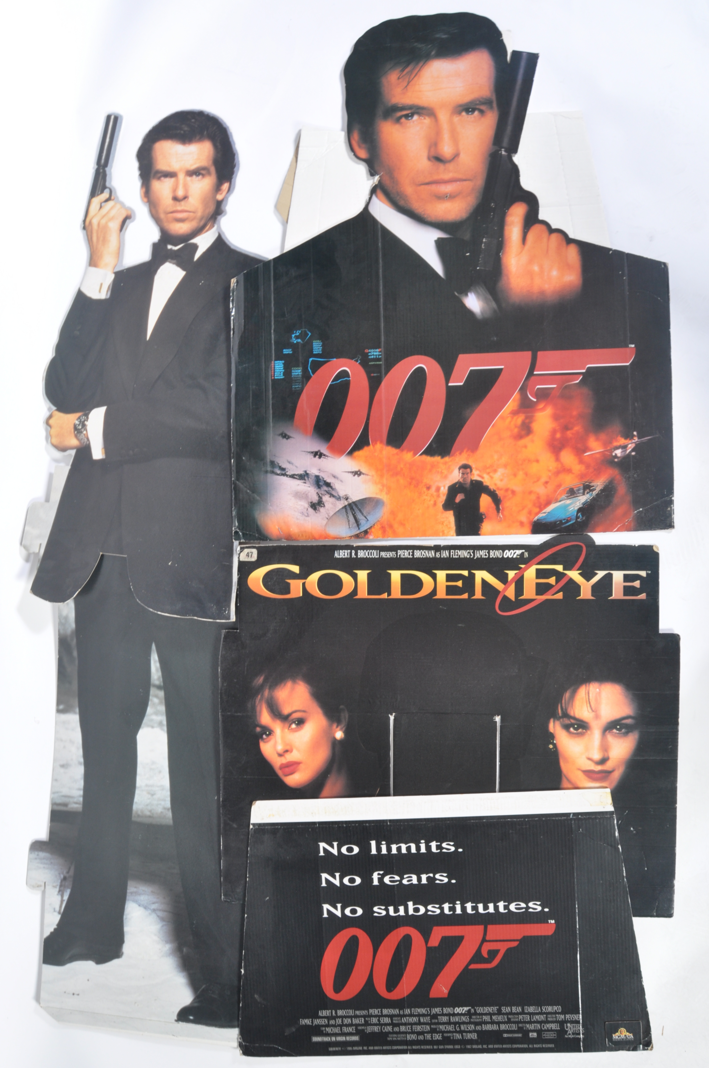 Lot 62 - COLLECTION OF JAMES BOND CINEMA CARDBOARD CUT OUTS