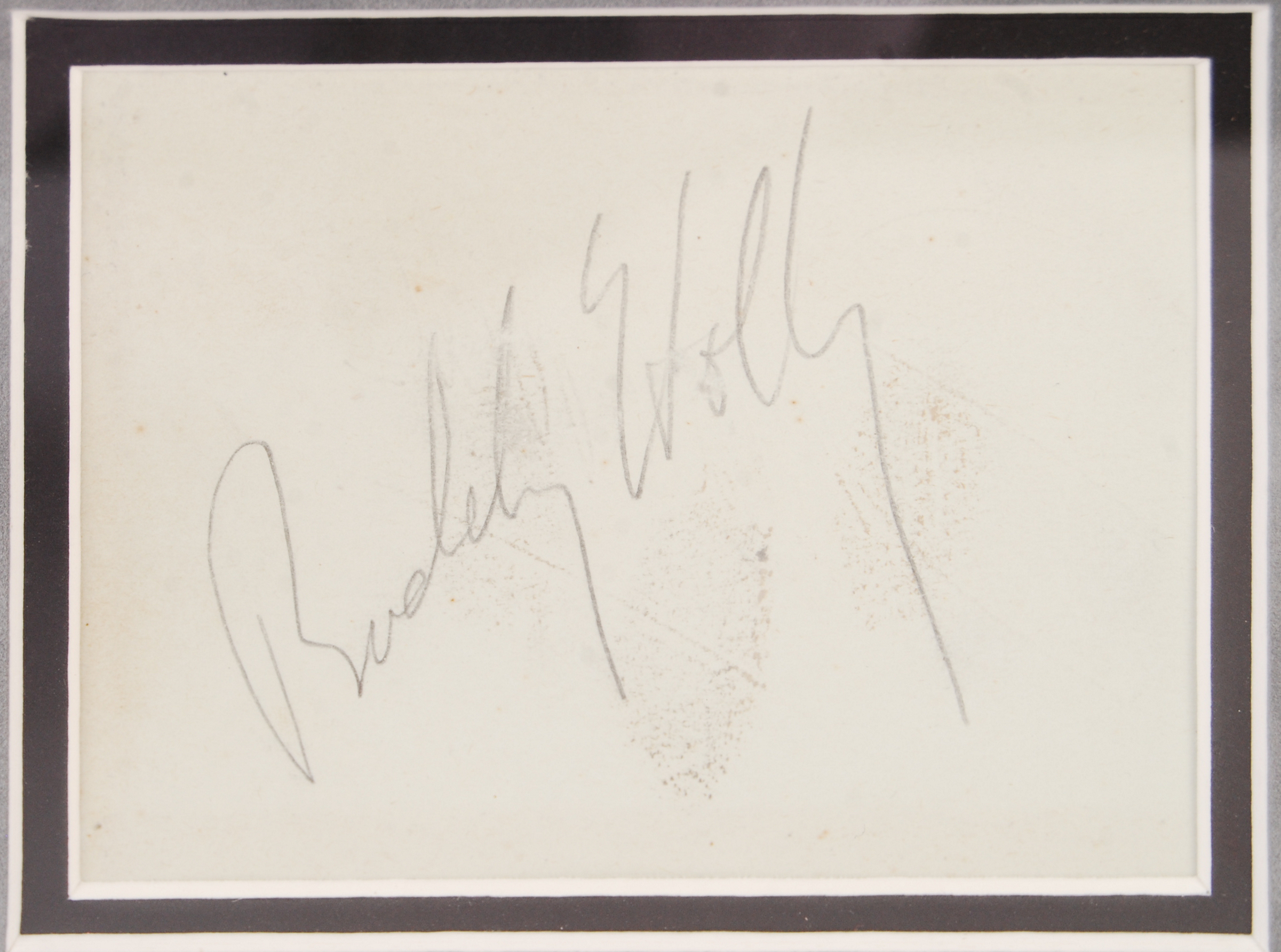 BUDDY HOLLY - INCREDIBLE RARE ORIGINAL AUTOGRAPH - Image 2 of 3
