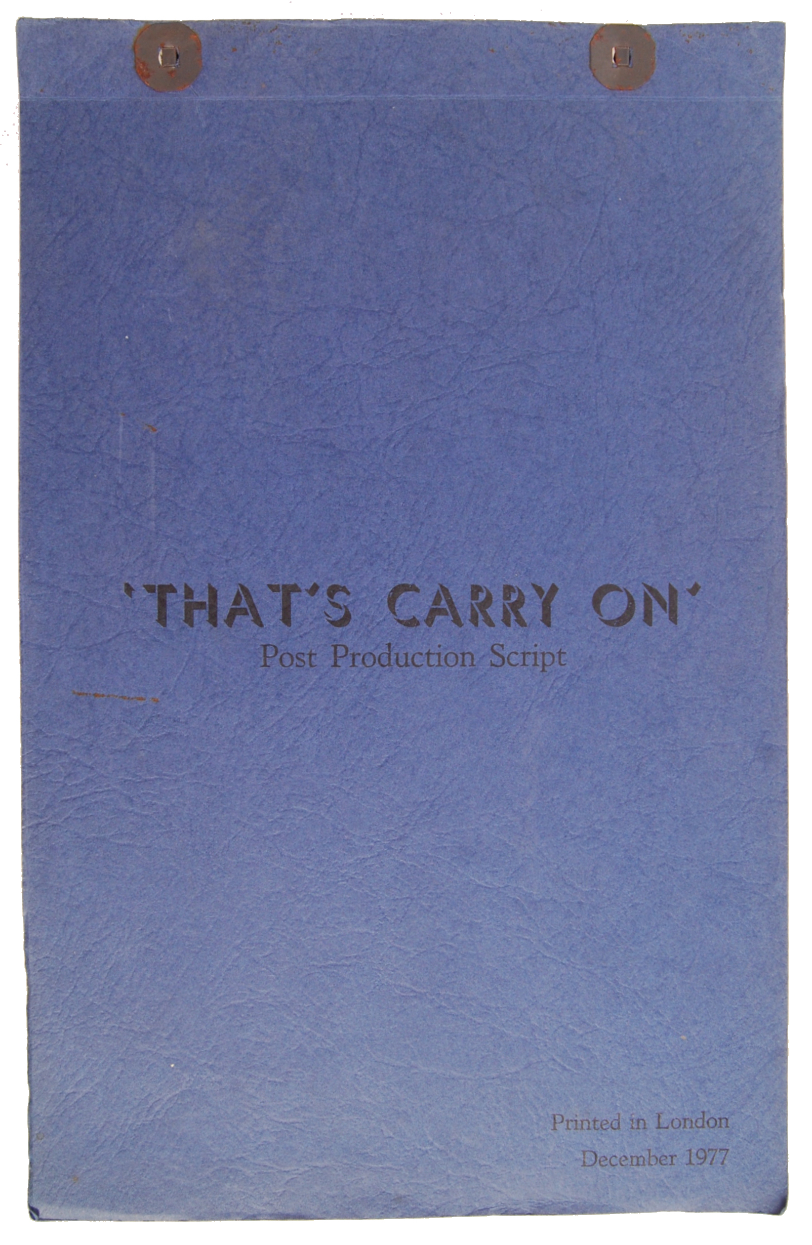 RARE VINTAGE ' THAT'S CARRY ON ' POST PRODUCTION S