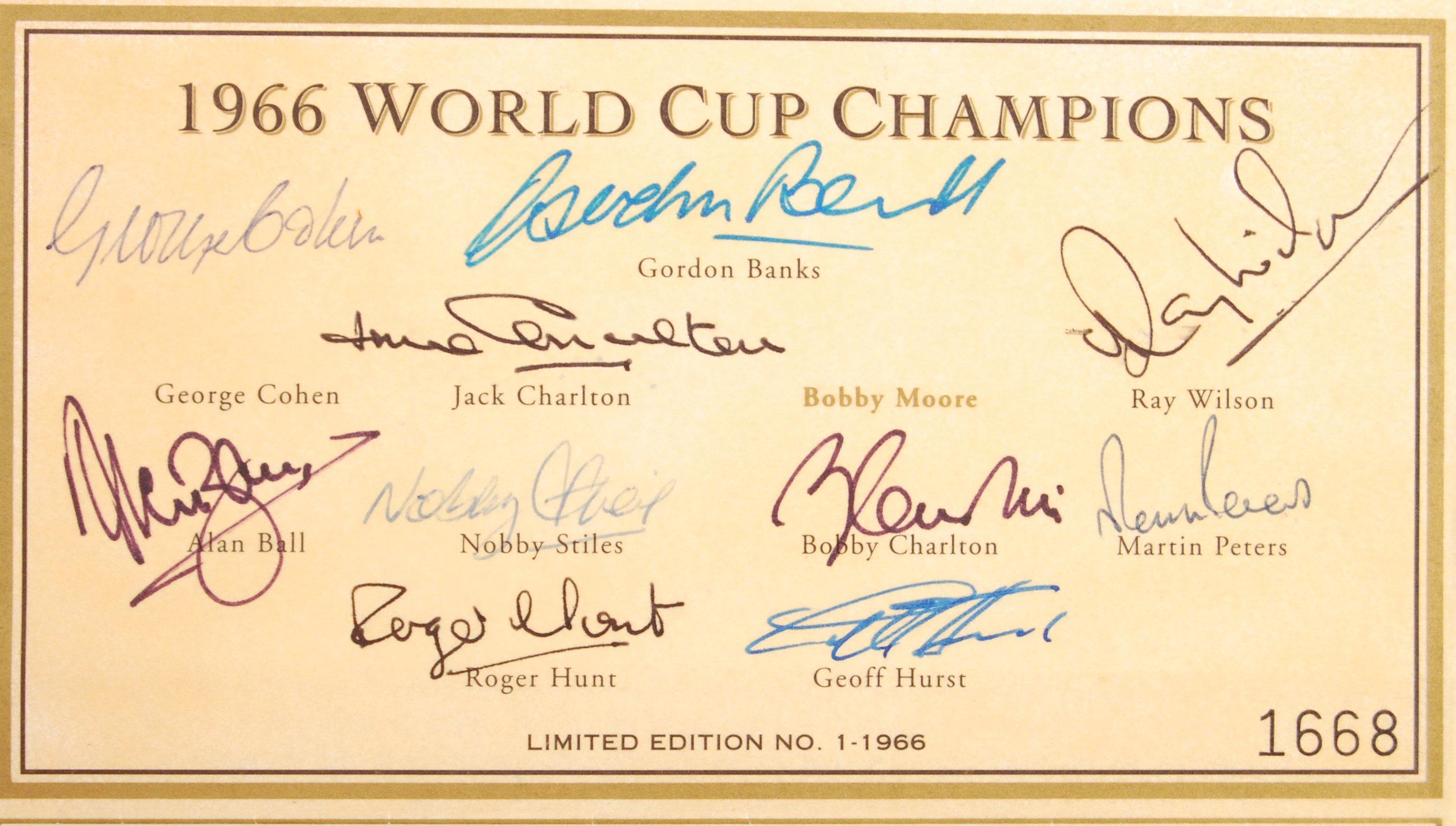 WORLD CUP 1966 - ENGLAND FOOTBALL AUTOGRAPHS - SET - Image 2 of 2
