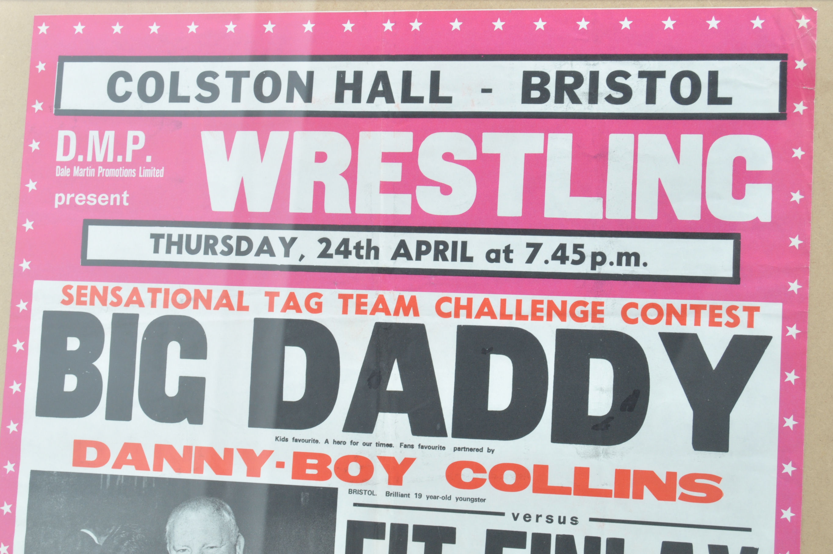 RARE VINTAGE LOCAL INTEREST COLSTON HALL WRESTLING - Image 2 of 4
