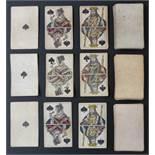 F.A. Lattmann, Goslar, Germany playing cards. Three packs comprising German national pattern. Two